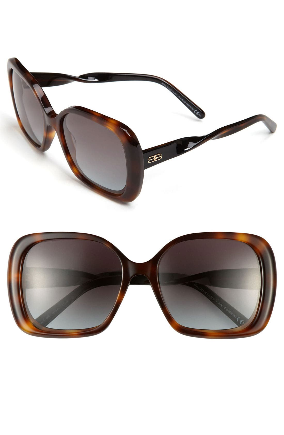 Alternate Image 1 Selected - Balenciaga Paris Oversized Square Sunglasses