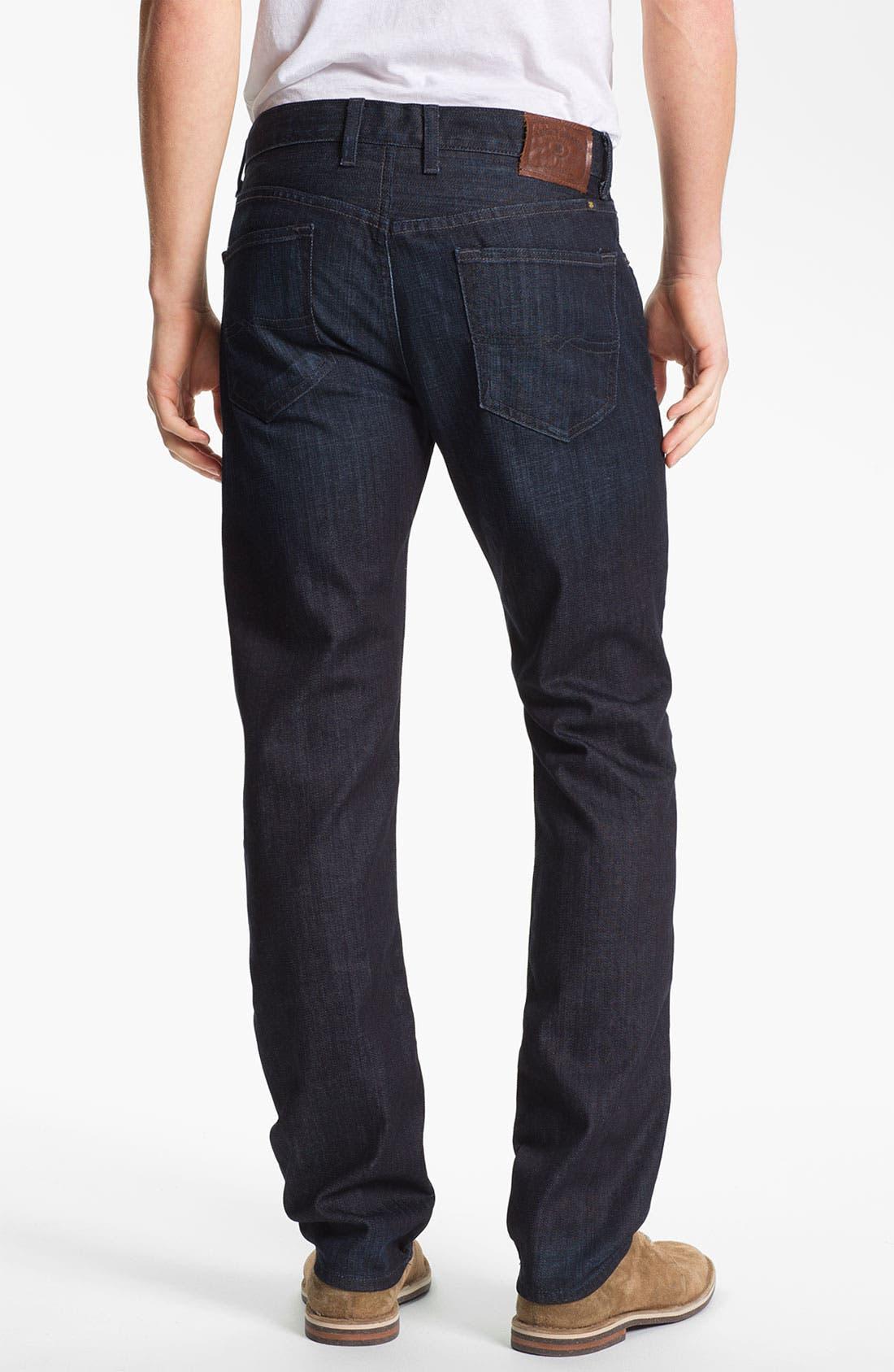 Alternate Image 2  - Lucky Brand 'Dean' Straight Leg Jeans (Dark Kingston) (Online Only)
