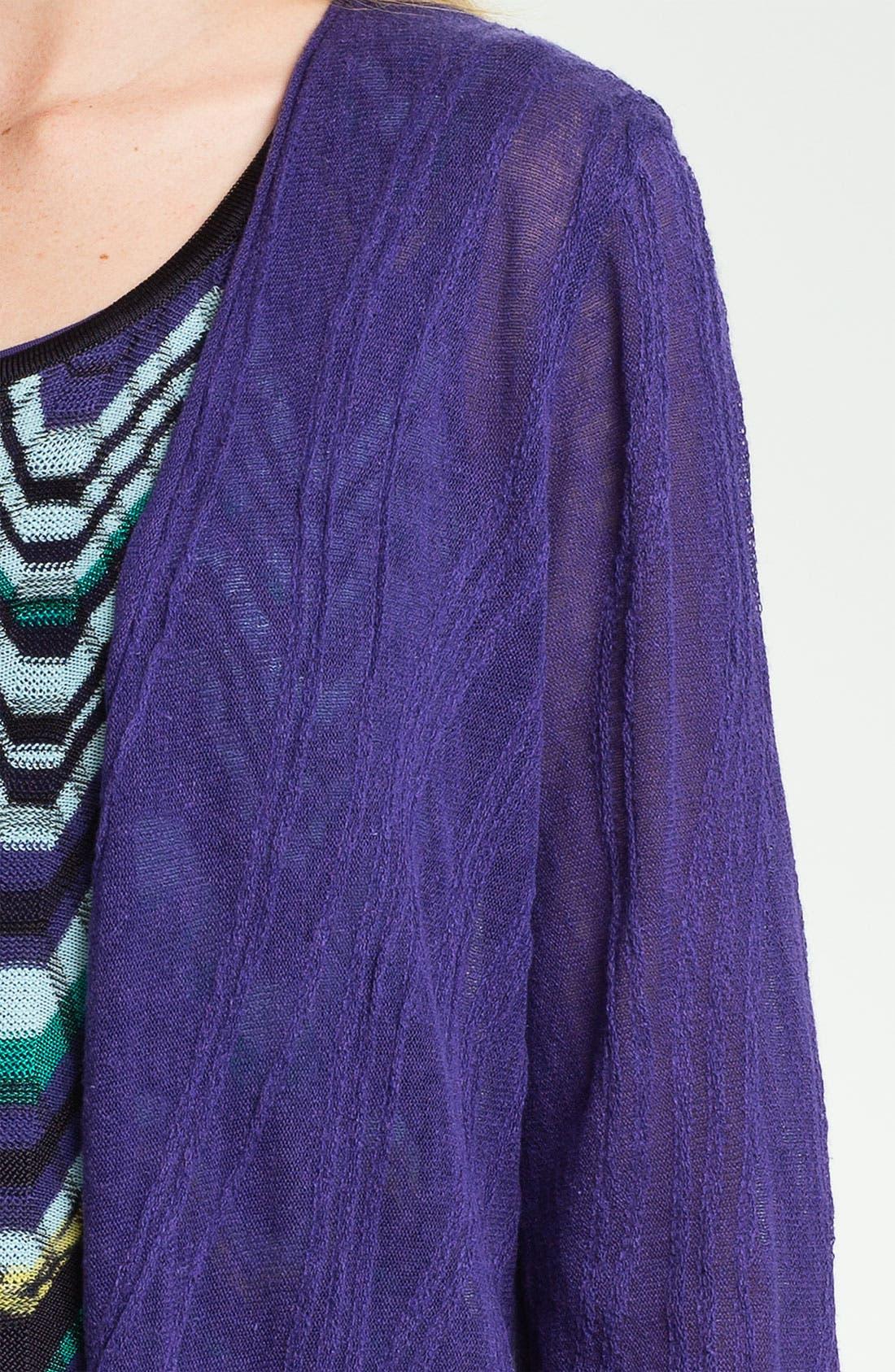 Alternate Image 3  - Nic + Zoe 'Wave' Textured Long Cardigan