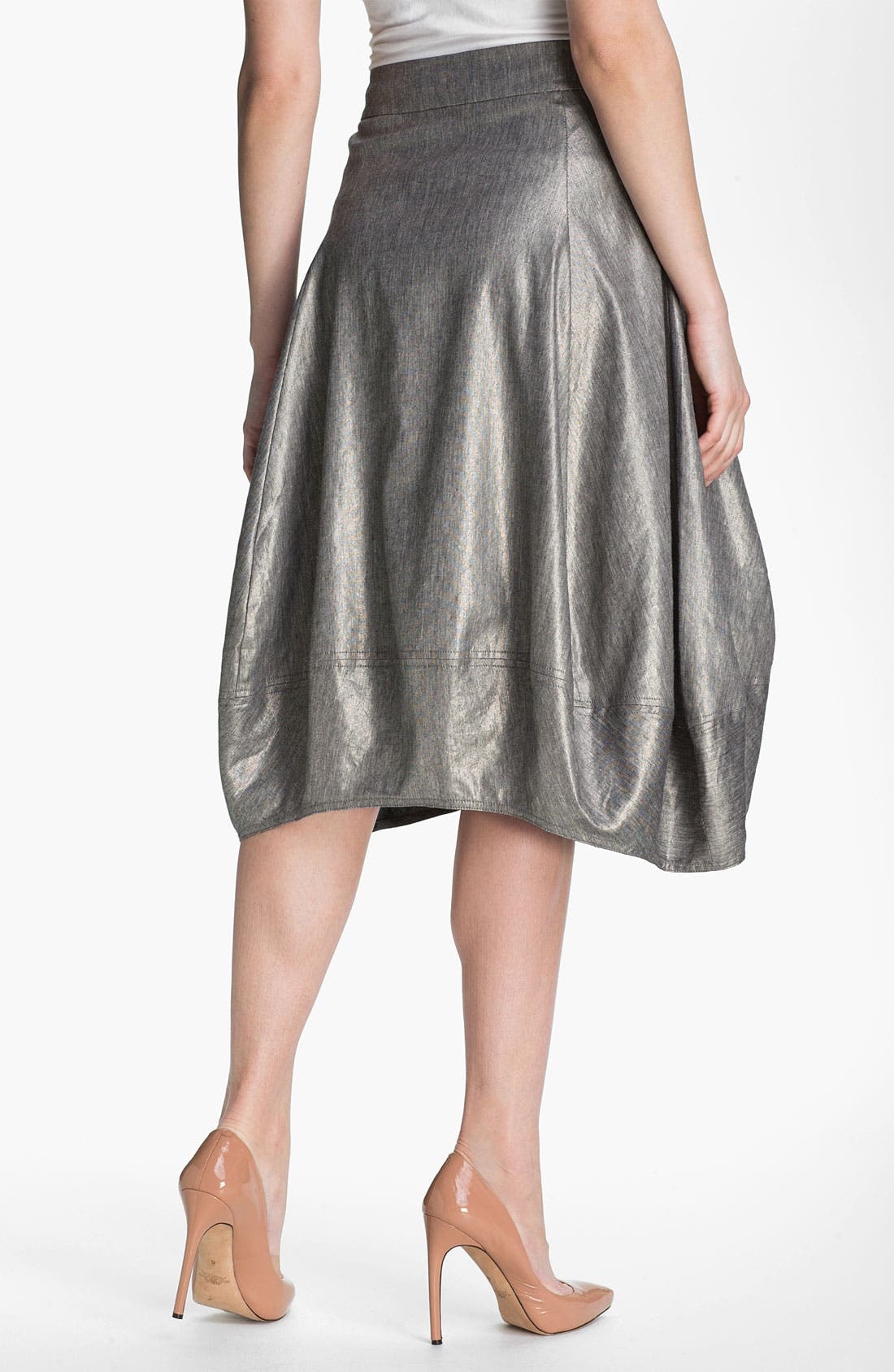 Alternate Image 2  - Eileen Fisher Stretch Linen Blend Lantern Skirt