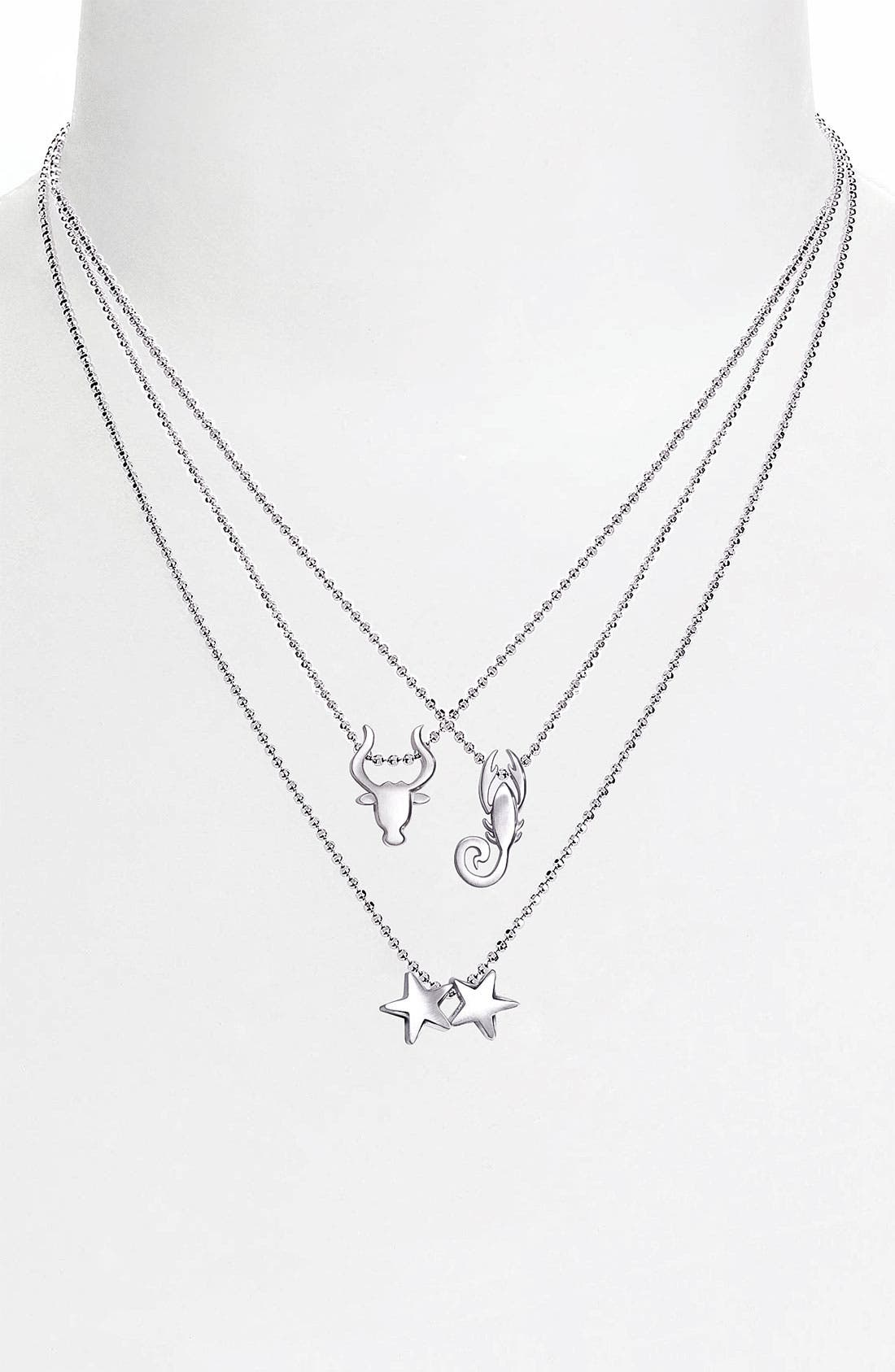 Alternate Image 2  - Alex Woo 'Little Signs' Zodiac Pendant Necklace