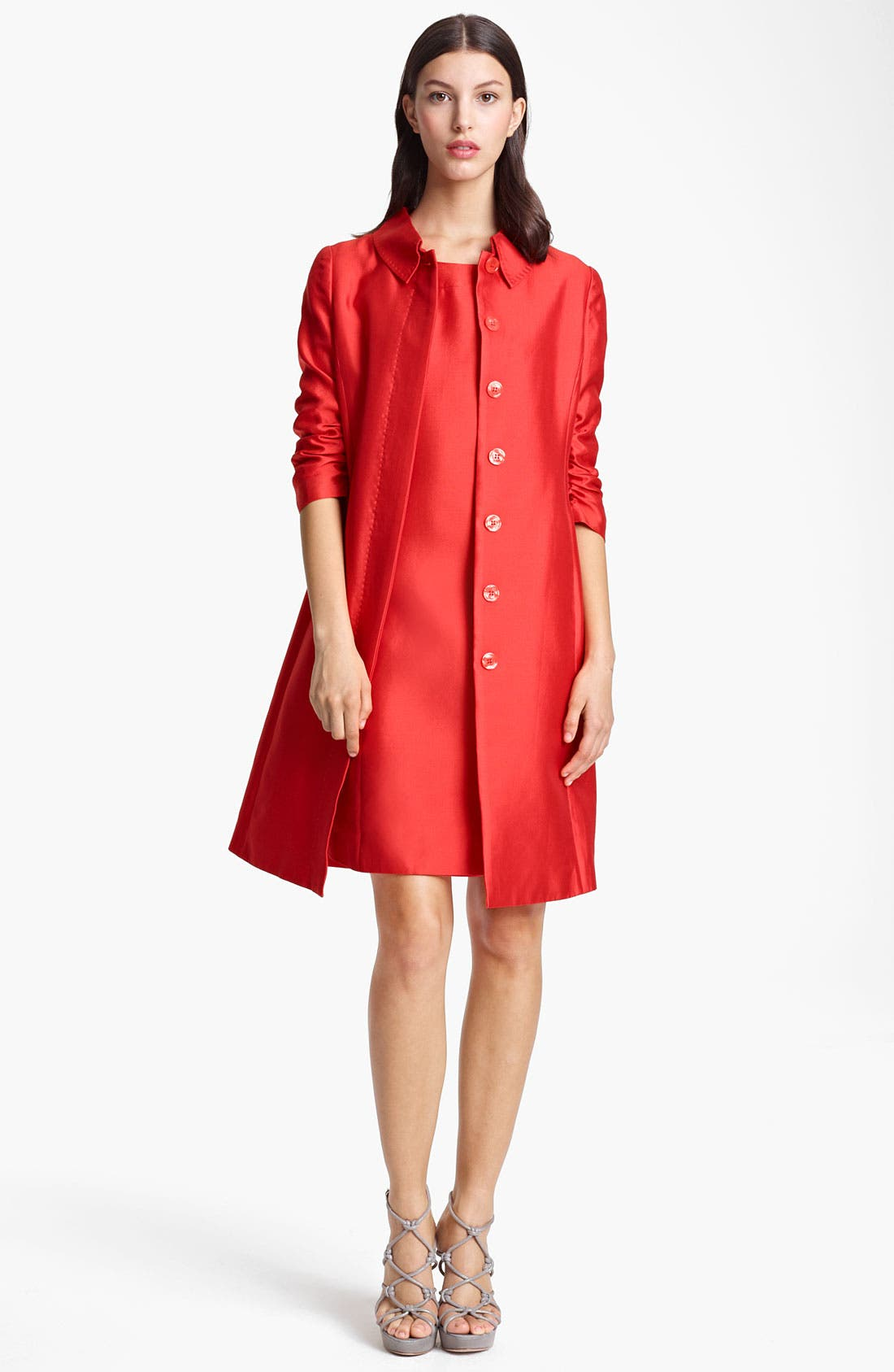 Alternate Image 1 Selected - Armani Collezioni Ruched Sleeve Coat