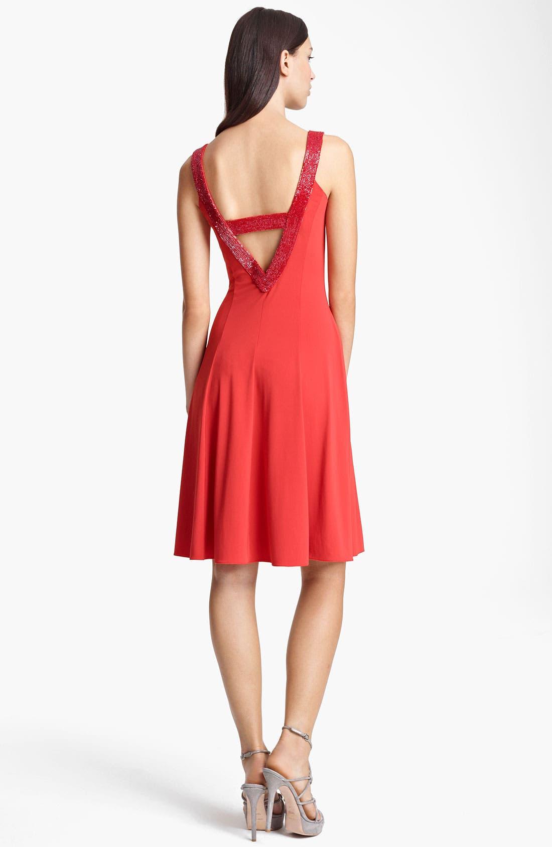 Alternate Image 2  - Armani Collezioni Beaded Neckline Cocktail Dress