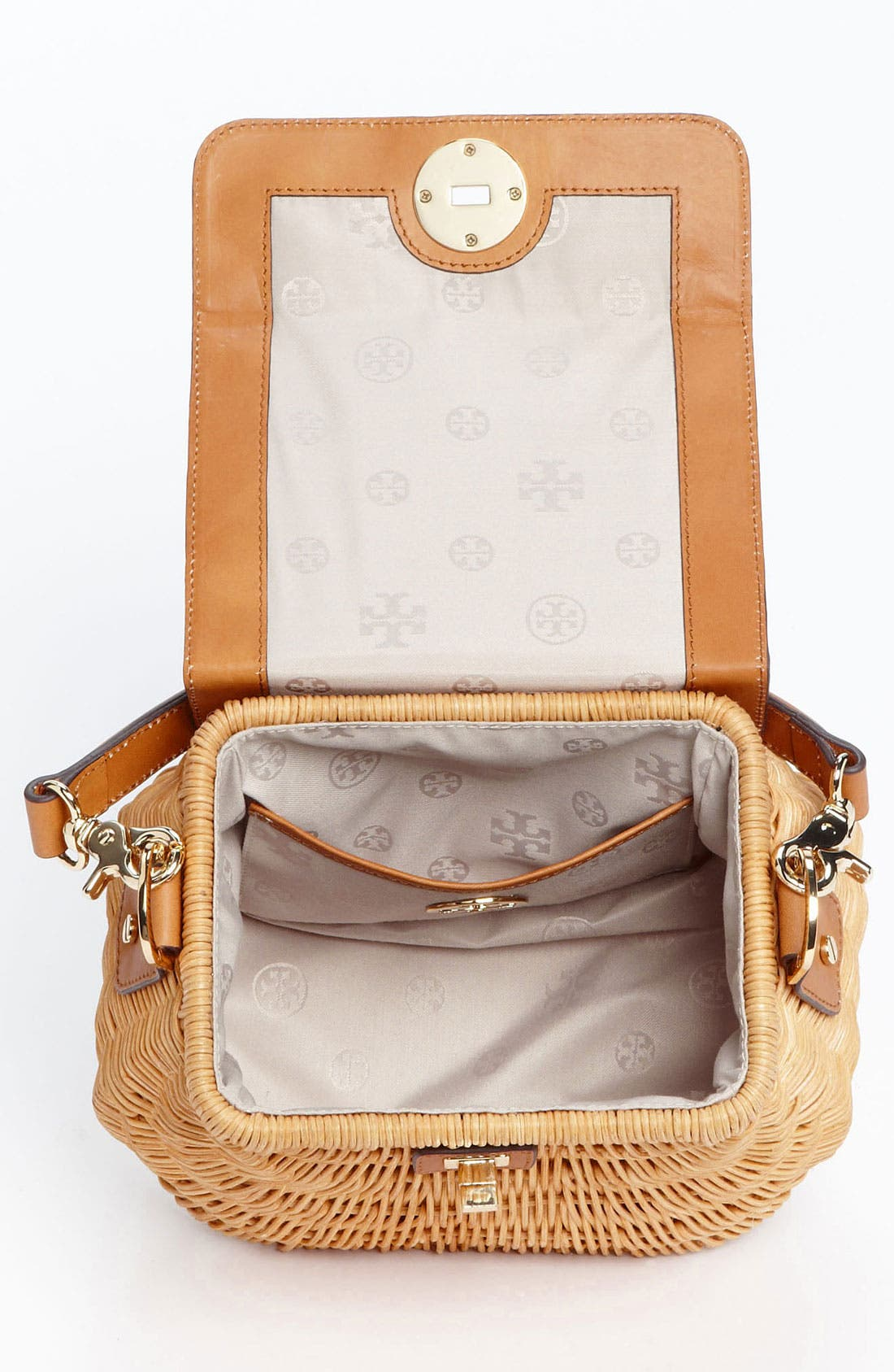 Alternate Image 3  - Tory Burch 'Lac' Rattan Handbag
