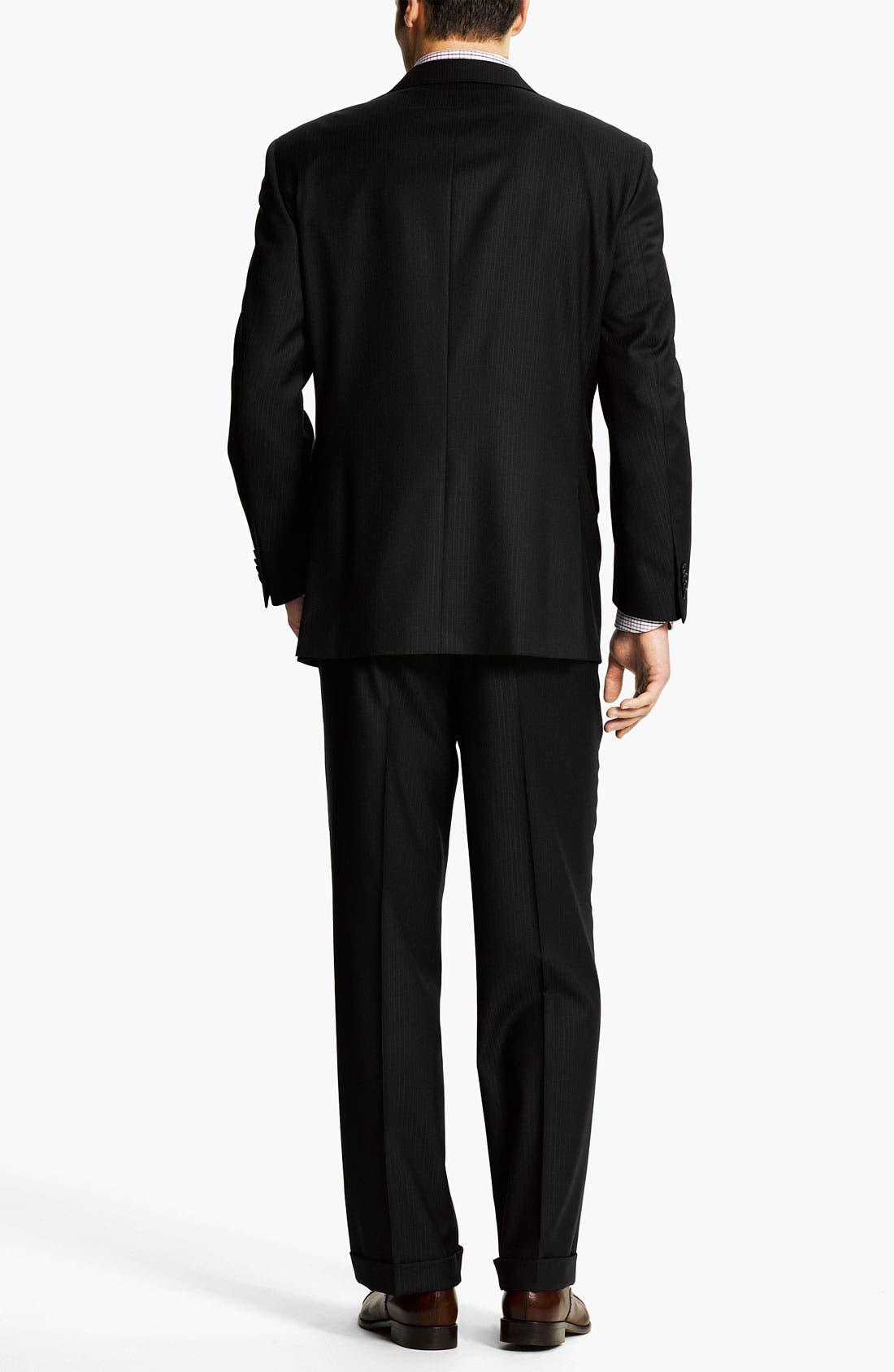 Alternate Image 3  - Peter Millar Stripe Wool Suit