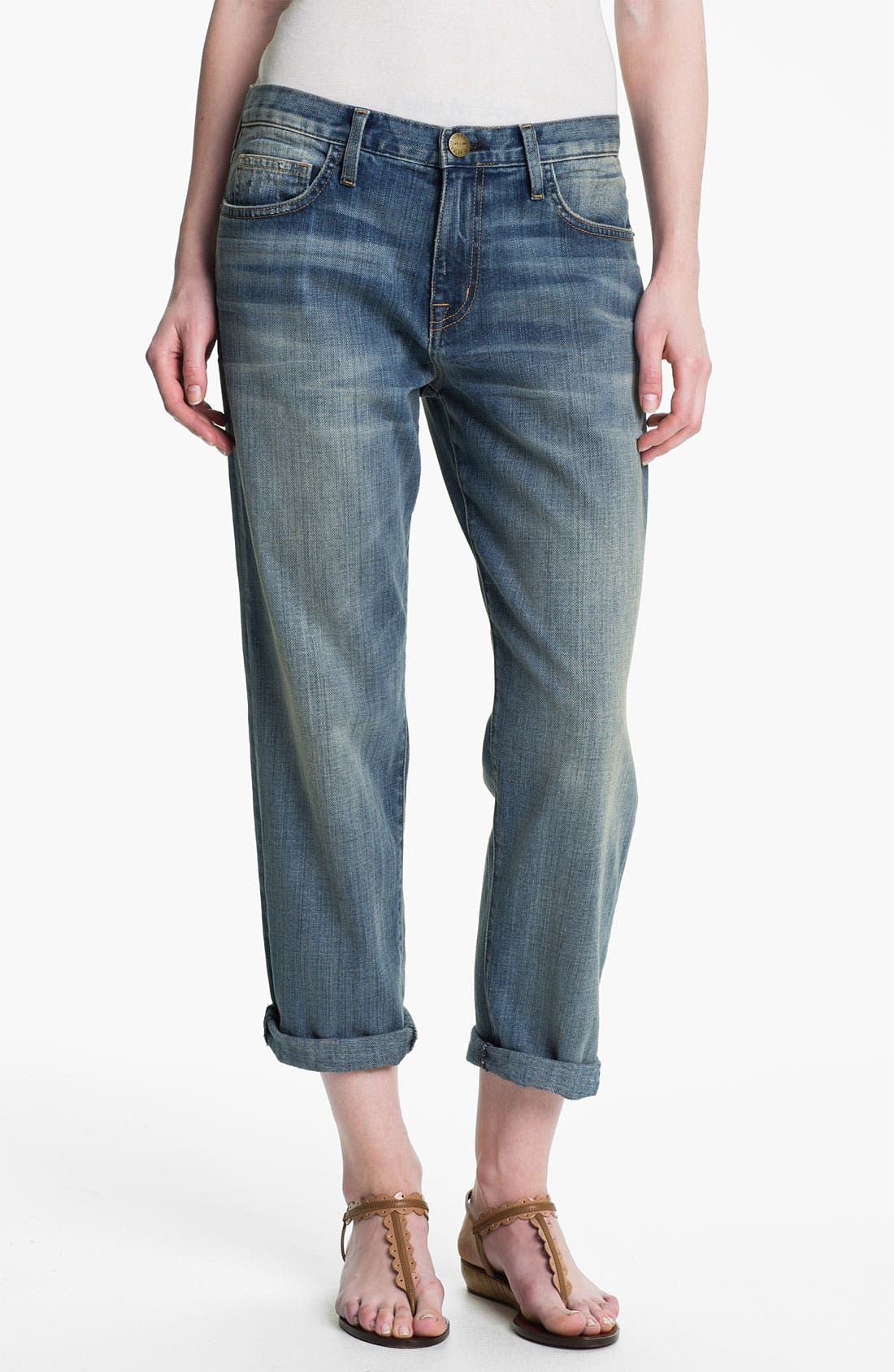 Main Image - Current/Elliott 'The Boyfriend Jean' Stretch Jeans (Super Loved)