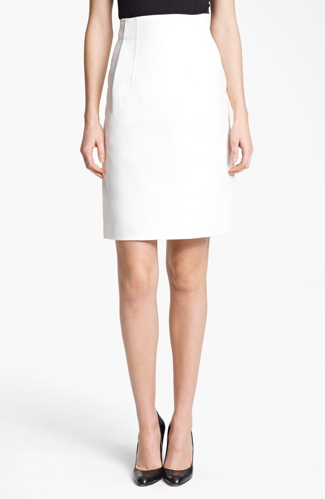 Alternate Image 1 Selected - Jil Sander Gabardine Skirt