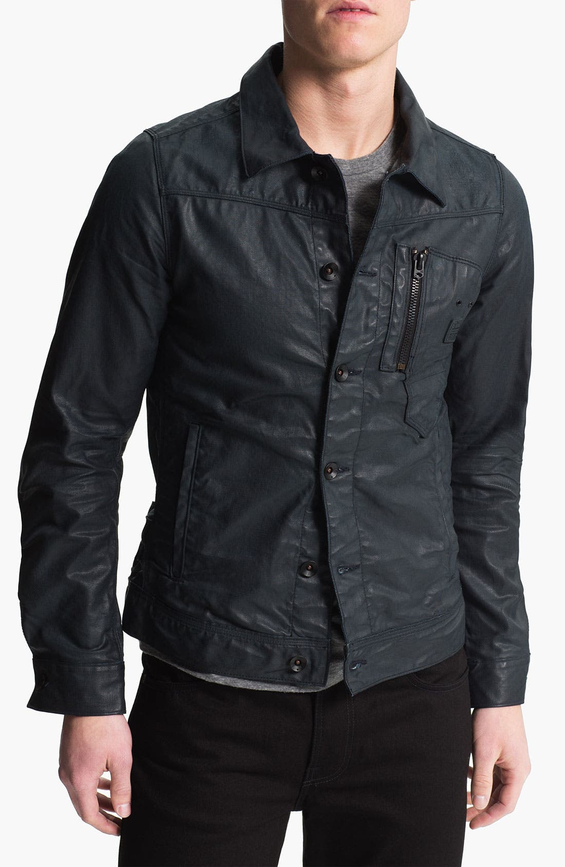 Alternate Image 1 Selected - G-Star Raw Coated Denim Jacket