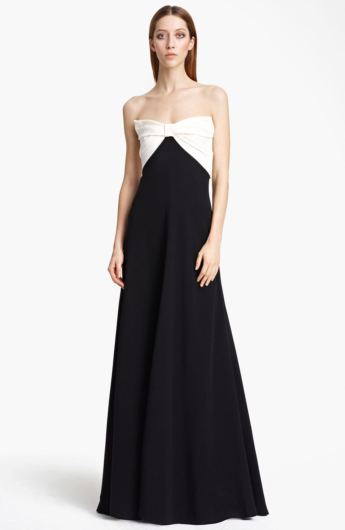 Main Image - Valentino Bow Bodice Gown