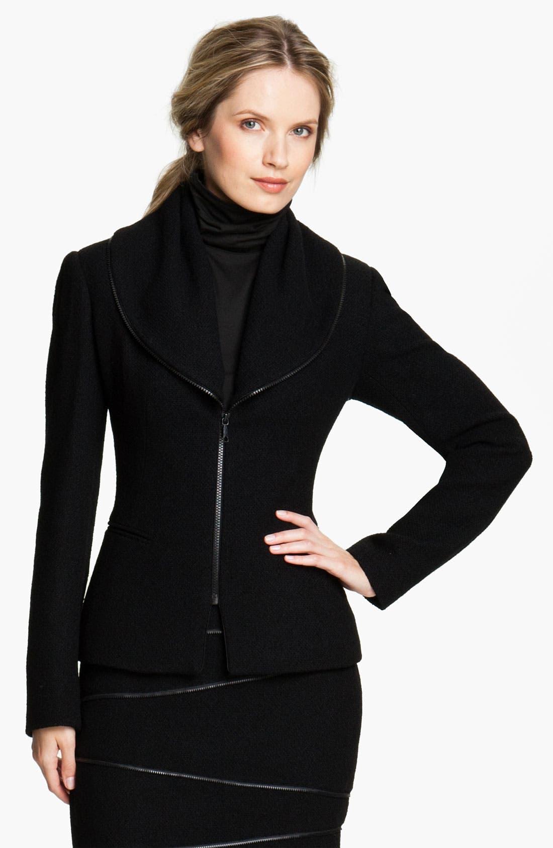 Main Image - Lafayette 148 New York 'Bretta' Javanese Cloth Jacket (Petite)