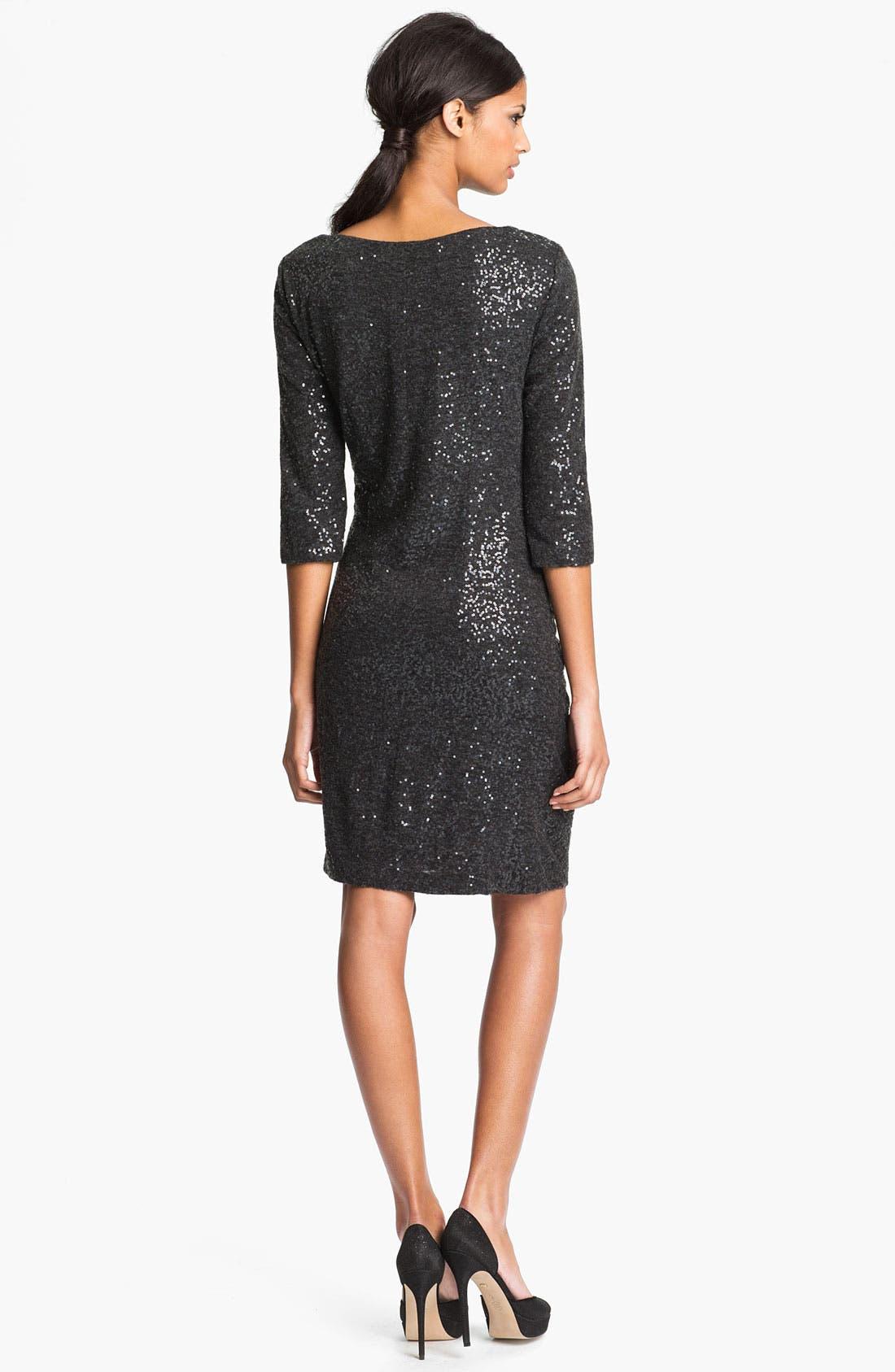 Alternate Image 2  - Taylor Dresses Side Tie Sequin Sweater Dress