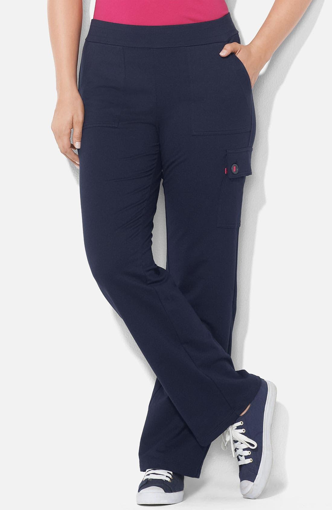 Alternate Image 1 Selected - Lauren Ralph Lauren Knit Cargo Pants (Plus)
