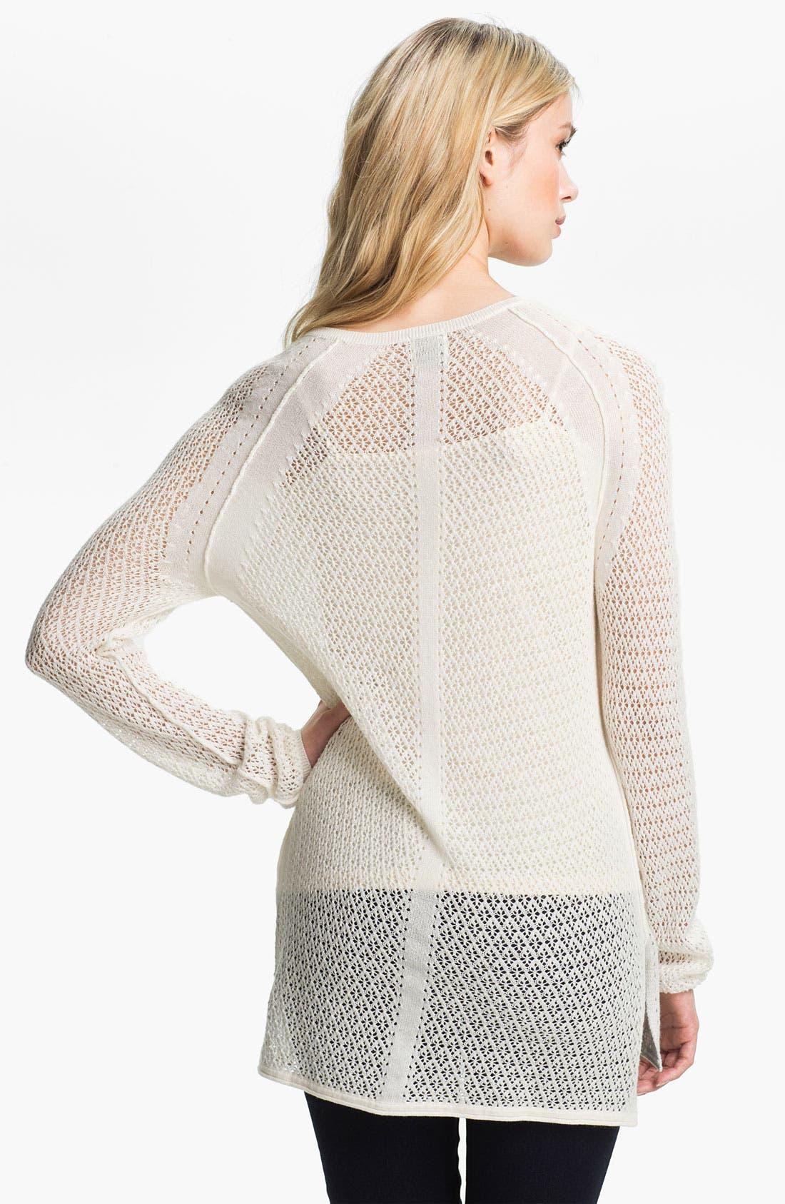 Alternate Image 2  - Ella Moss 'Julia' Pointelle Tunic Sweater