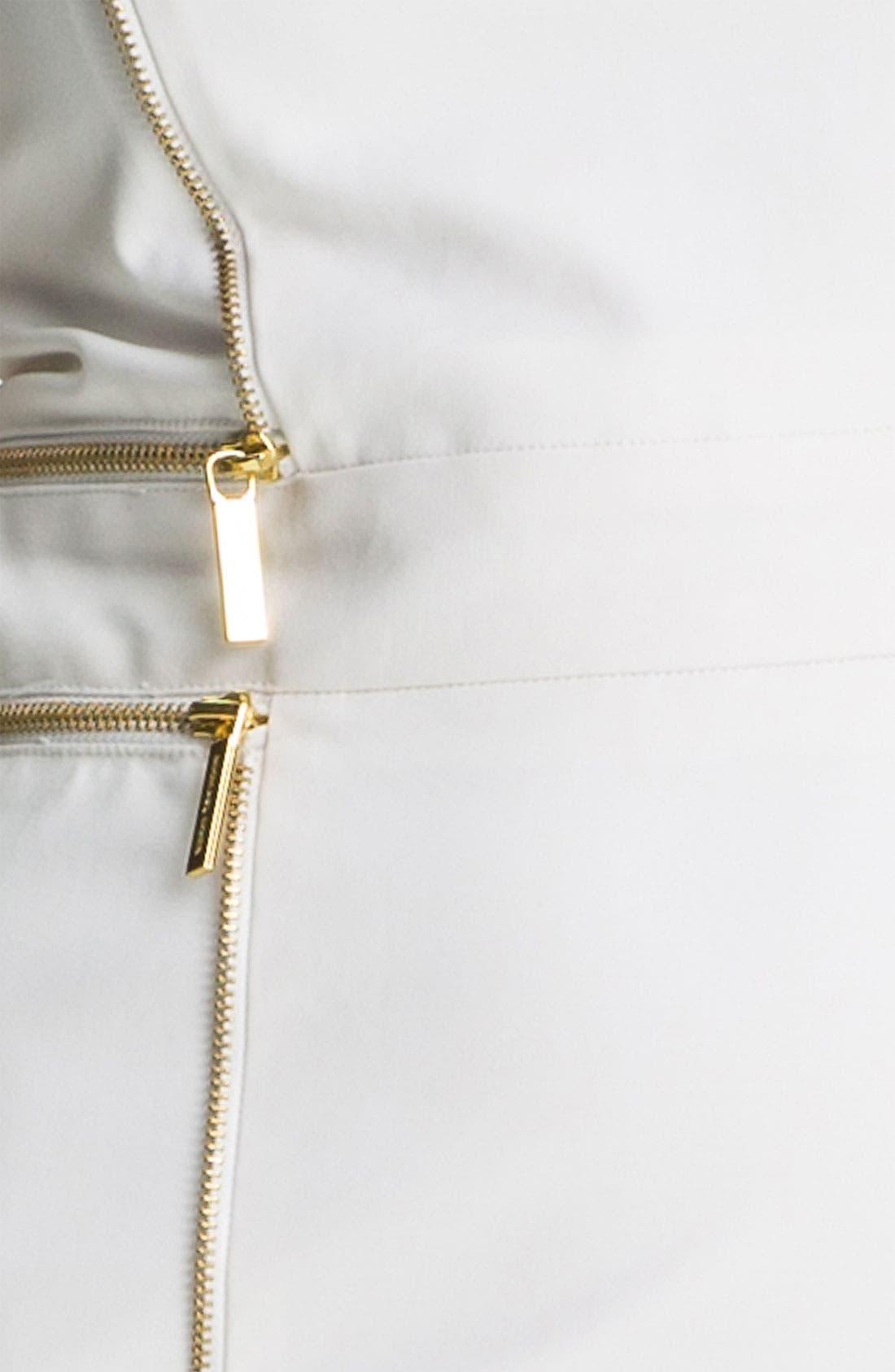 Alternate Image 3  - MICHAEL Michael Kors Zip Trim Sheath Dress