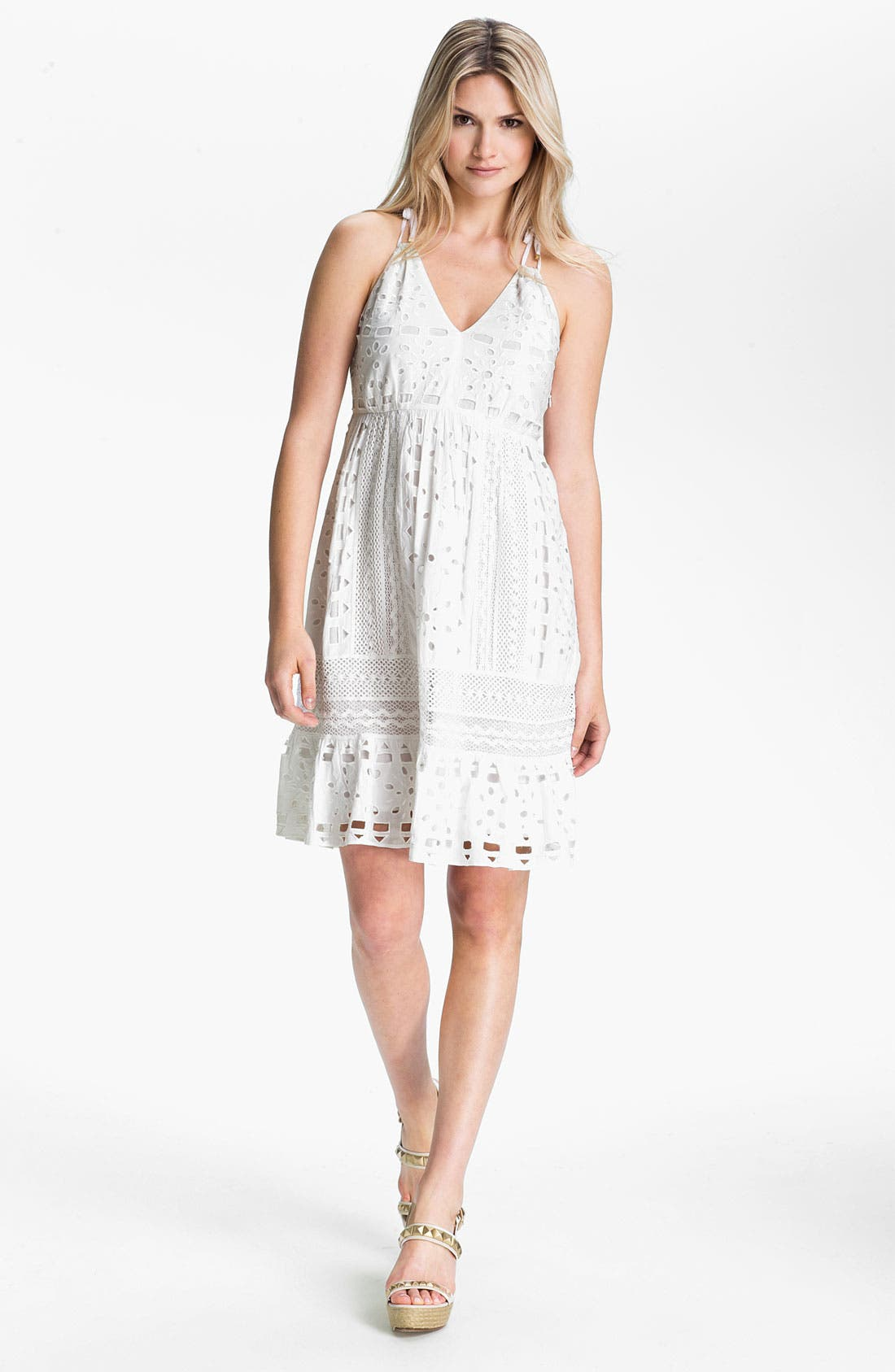 Alternate Image 1 Selected - MICHAEL Michael Kors Eyelet Dress
