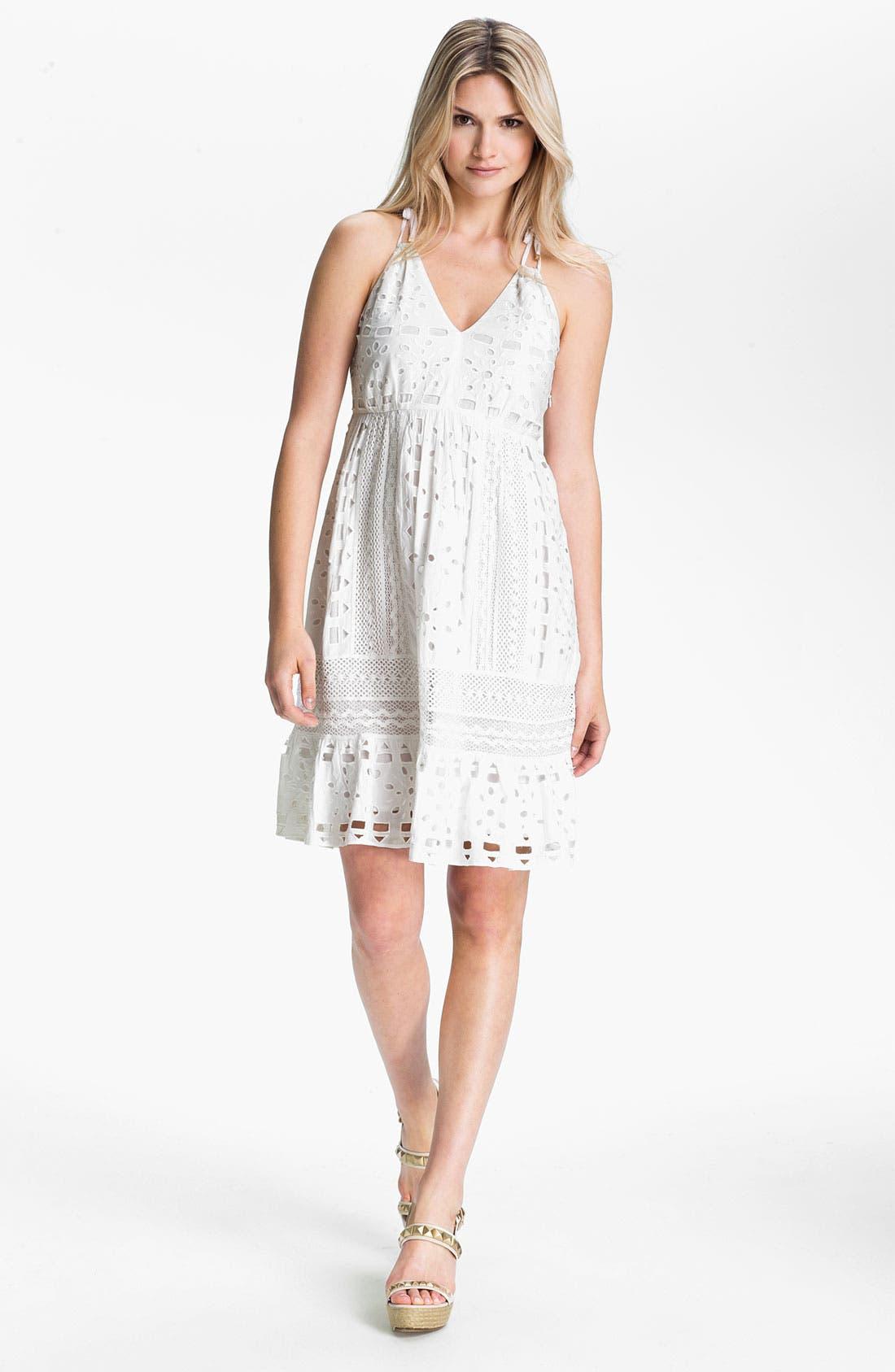 Main Image - MICHAEL Michael Kors Eyelet Dress