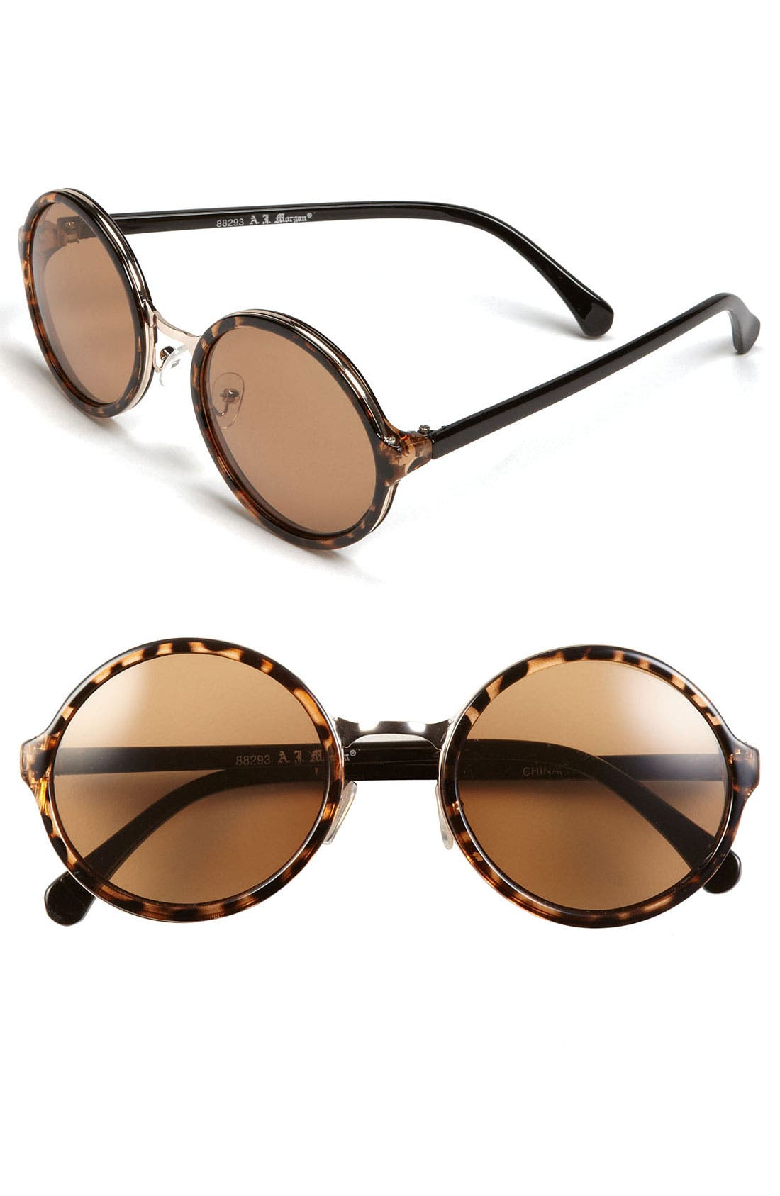 Alternate Image 1 Selected - A.J. Morgan 52mm Retro Round Sunglasses