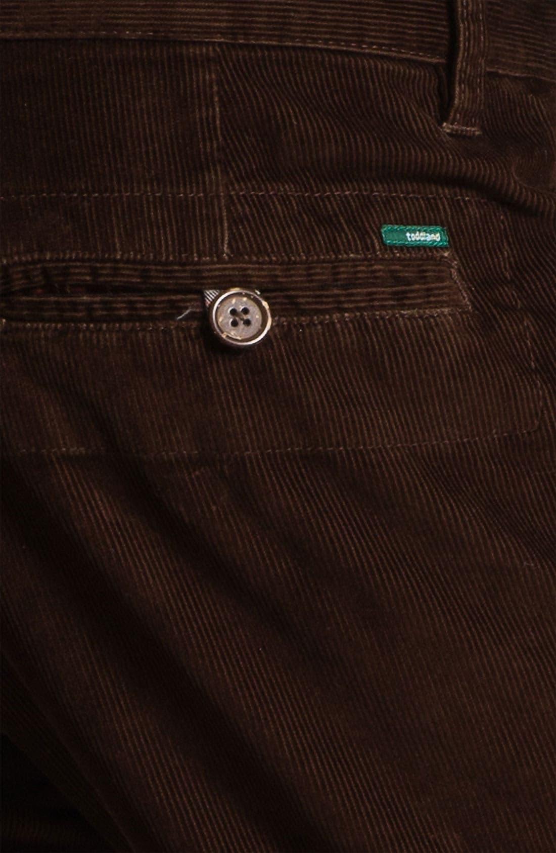 Alternate Image 3  - Toddland Flannel Lined Slim Straight Leg Corduroy Pants