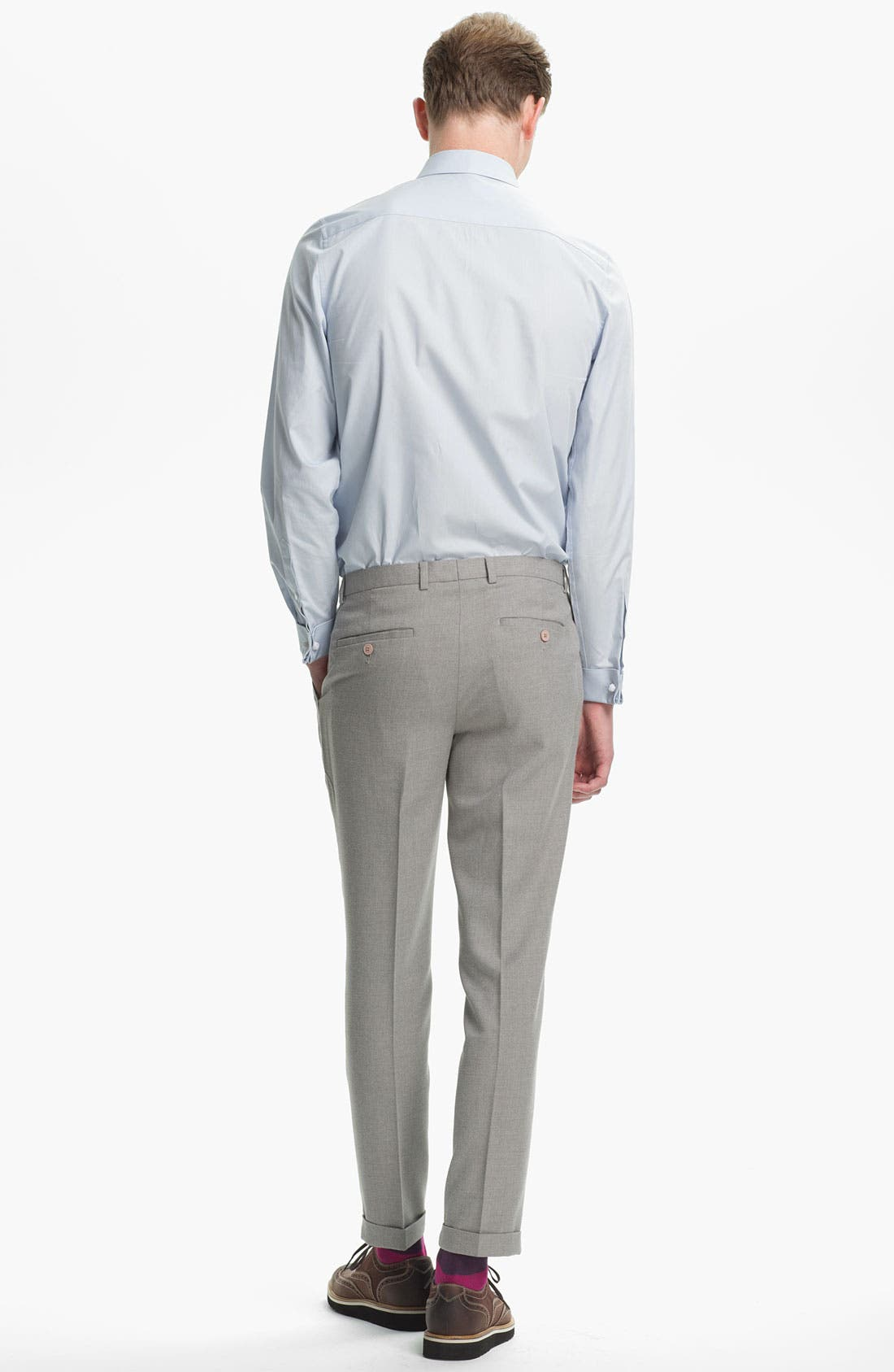 Alternate Image 5  - Topman Brushed Skinny Fit Trousers
