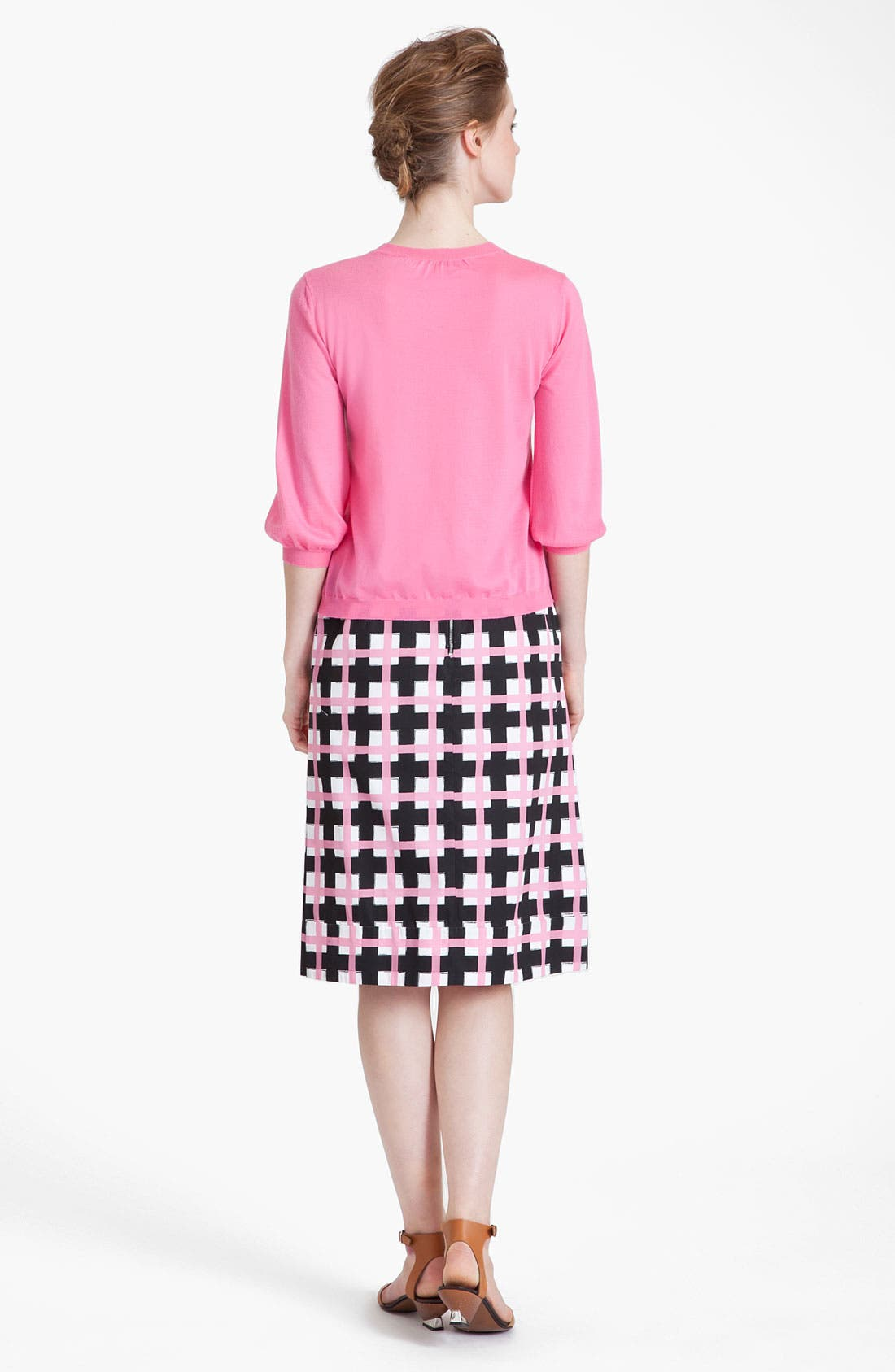 Alternate Image 3  - Marni Grid Print Taffeta Pencil Skirt