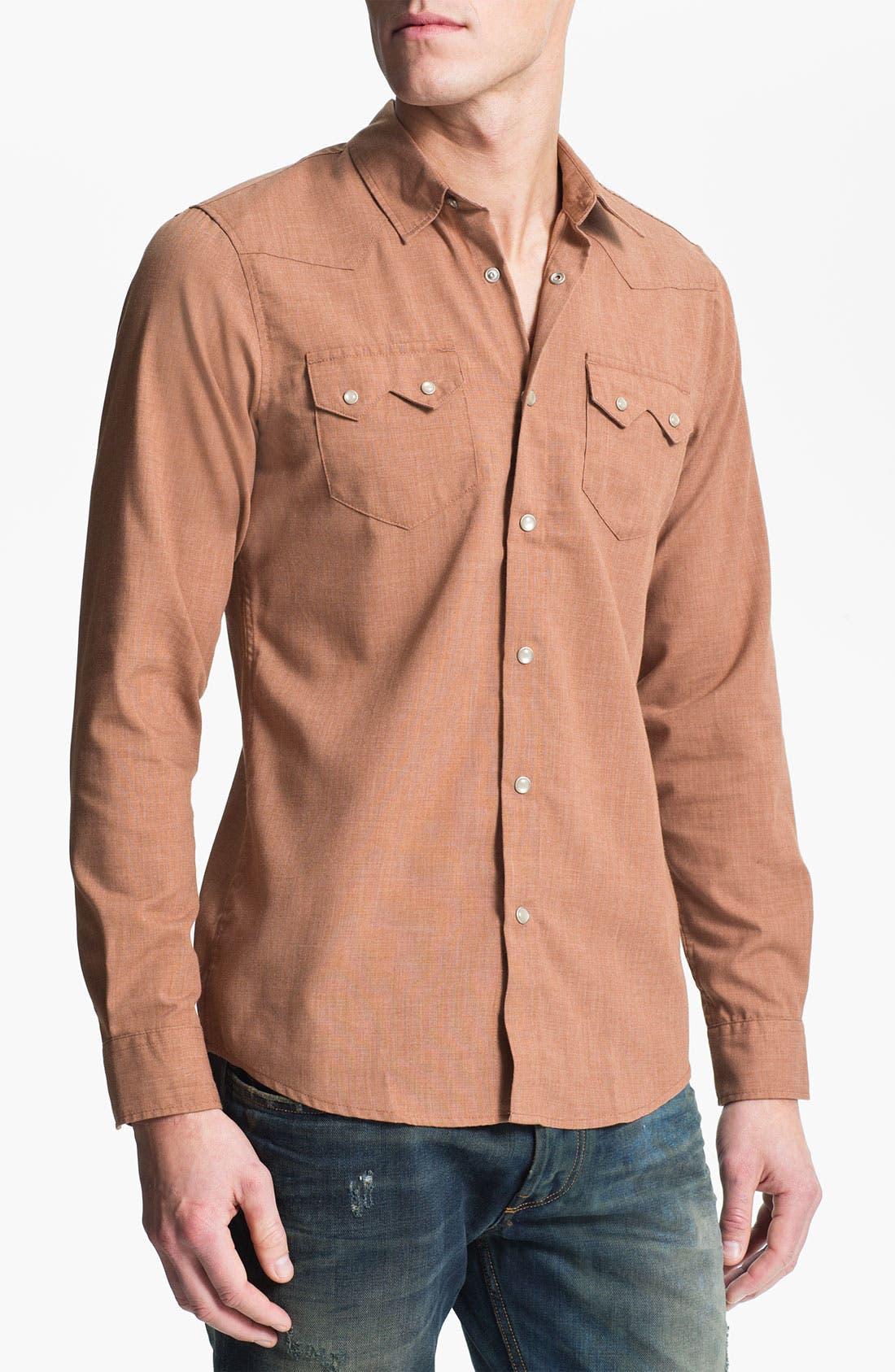 Main Image - 55DSL 'Saloon' Woven Western Shirt