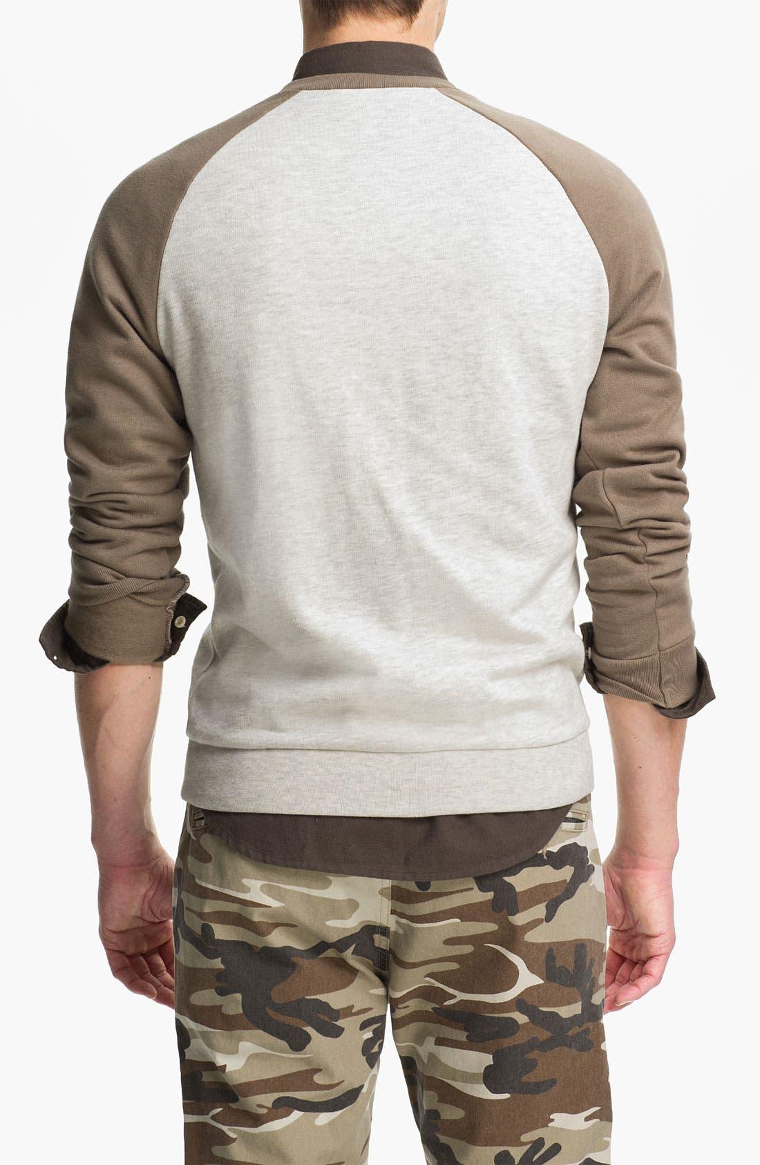 Alternate Image 2  - Topman Raglan Crewneck Sweatshirt