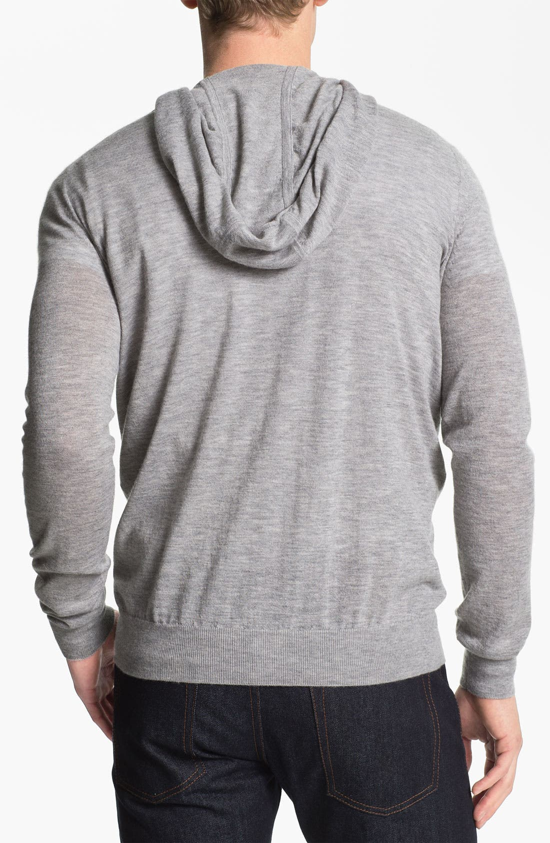 Alternate Image 2  - Vince Double Layer Cashmere Hooded Pullover
