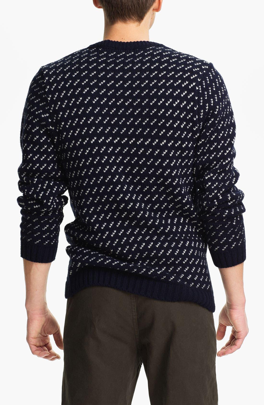 Alternate Image 2  - Topman 'Dash' Knit Crewneck Sweater