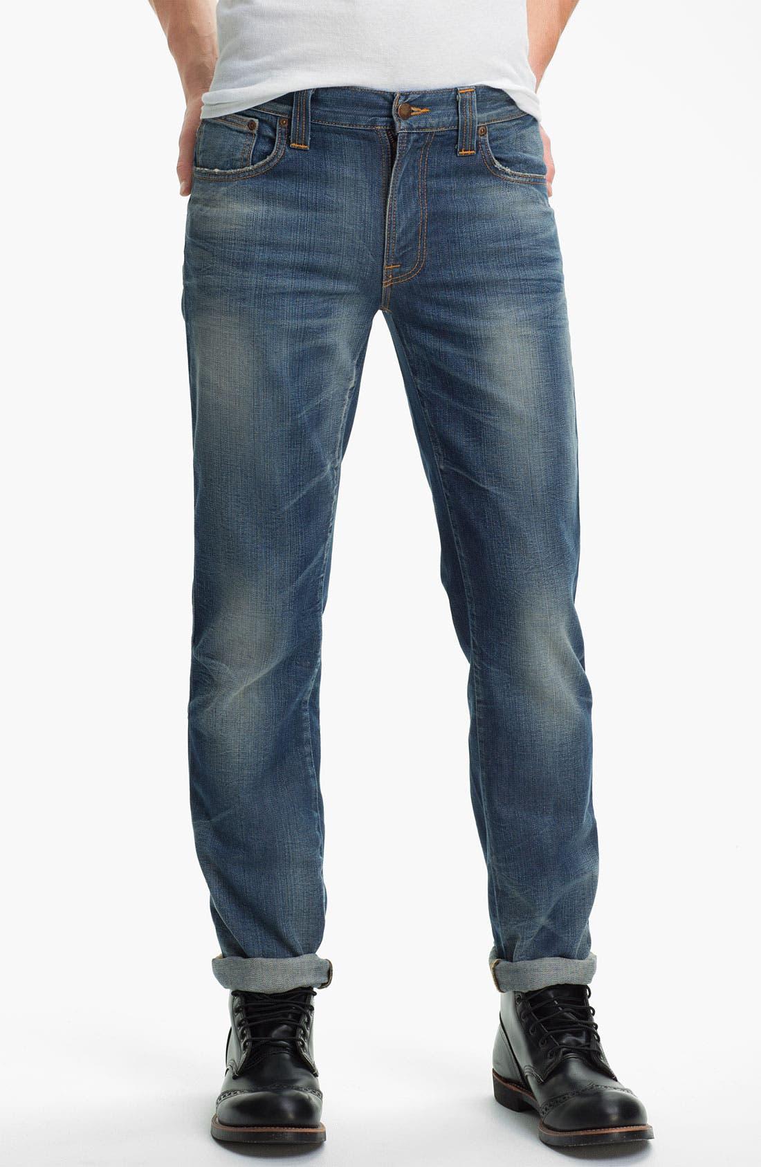 Alternate Image 2  - Nudie 'Slim Jim' Slim Straight Leg Jeans (Organic Broken Dream)
