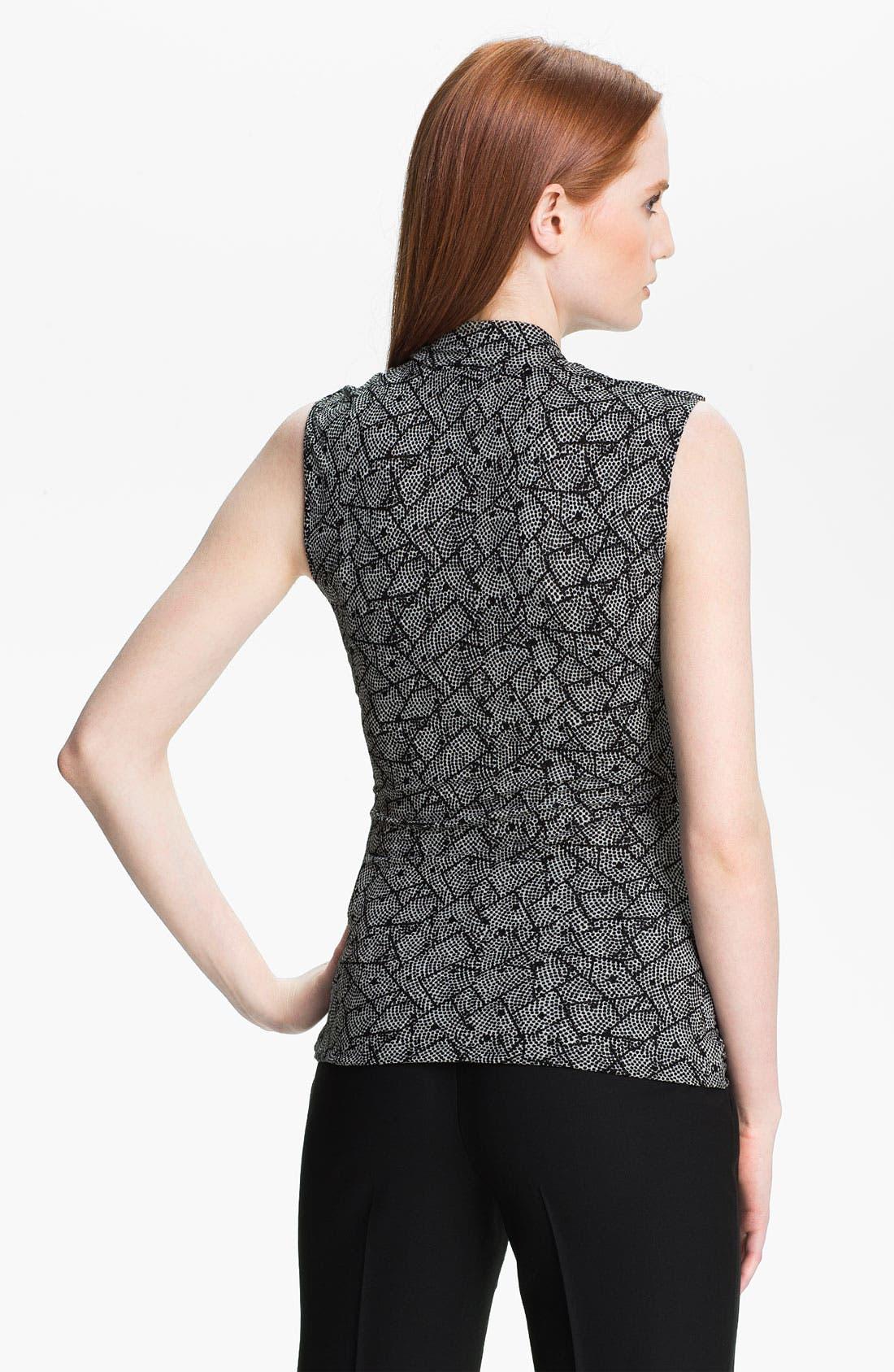 Alternate Image 2  - Classiques Entier® Surplice Silk Blend Mesh Top