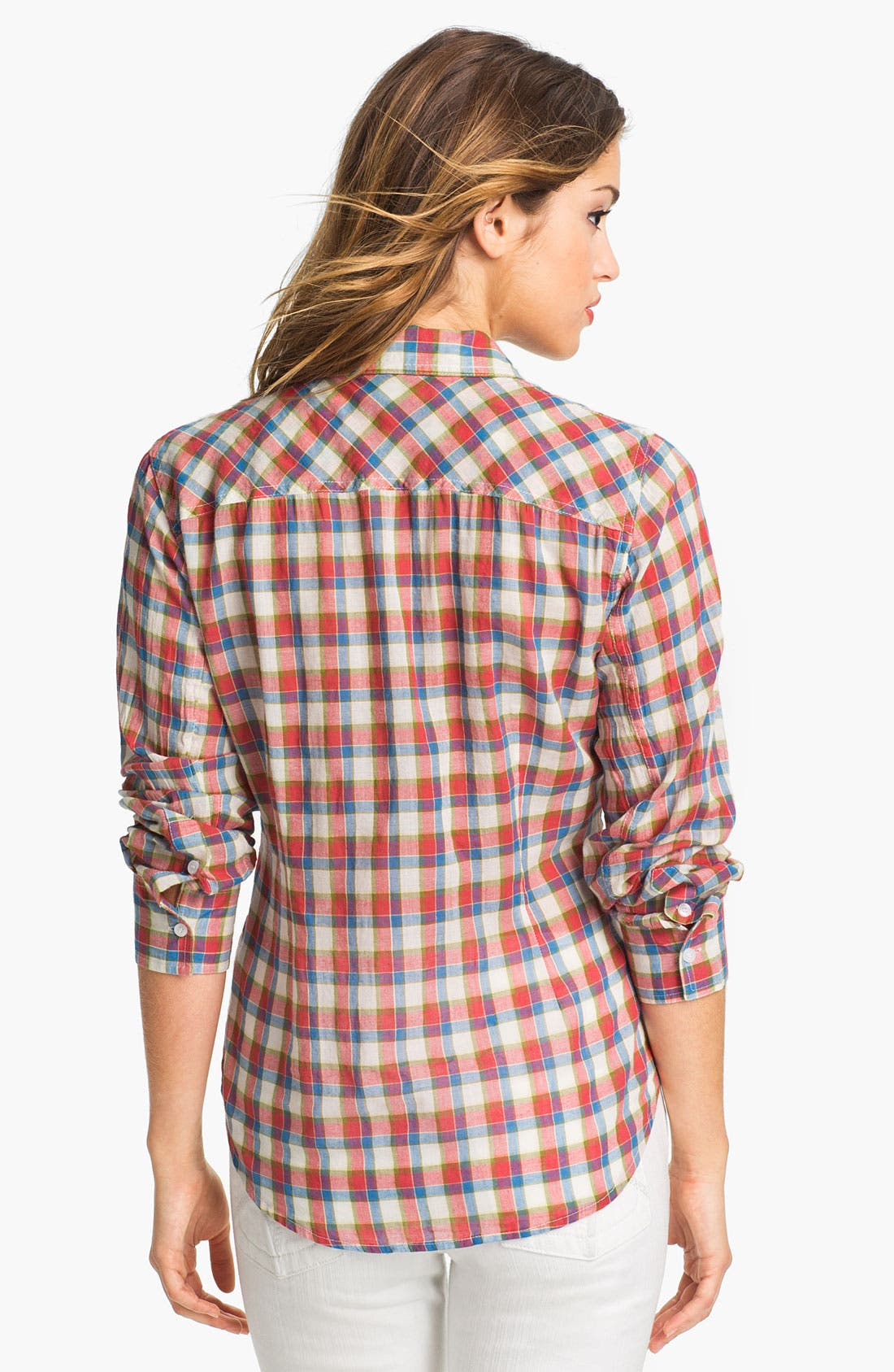 Alternate Image 2  - Sandra Ingrish Two Pocket Plaid Shirt