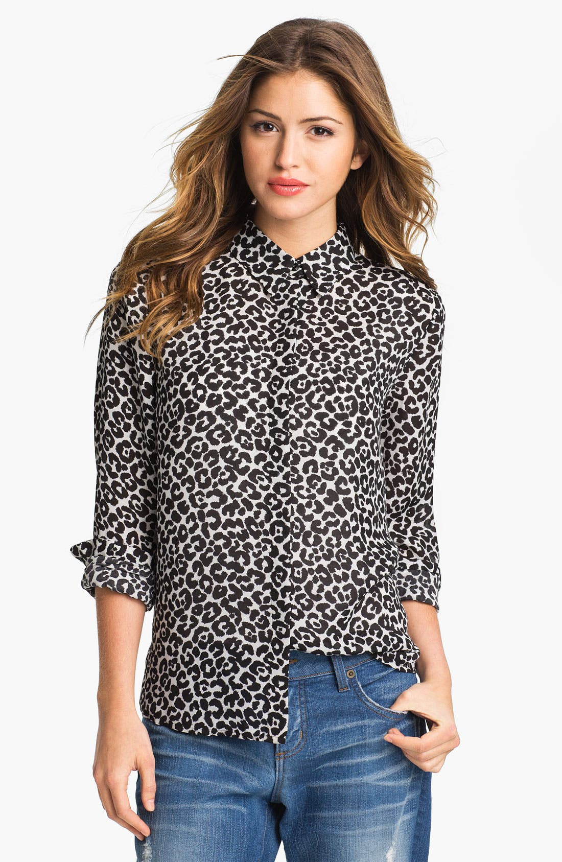 Alternate Image 1 Selected - Vince Camuto Leopard Print Blouse