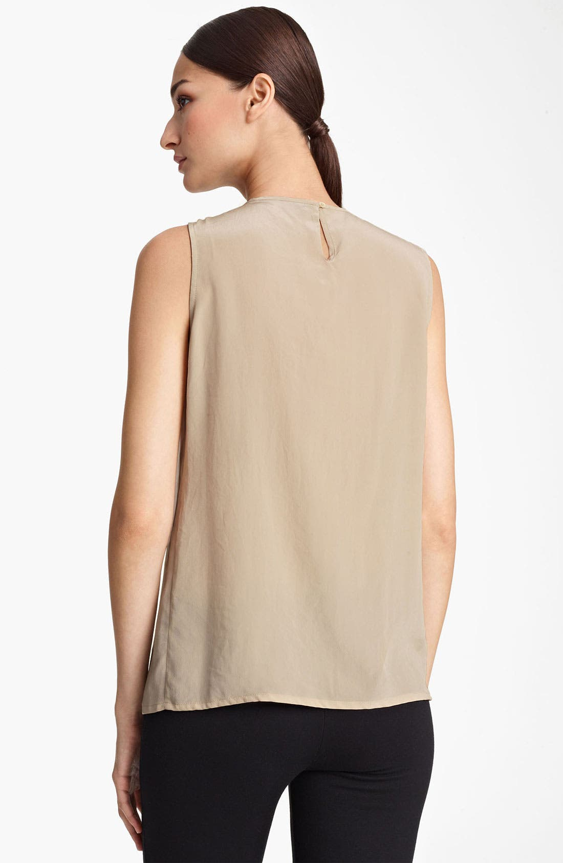 Alternate Image 2  - Fabiana Filippi Embellished Neck Silk Tank
