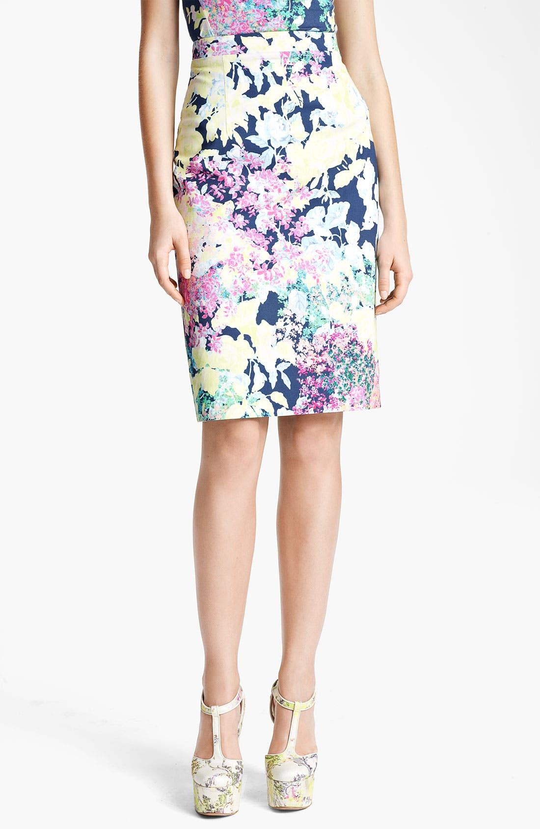 Main Image - Erdem 'Imperial Rose' Print Pencil Skirt