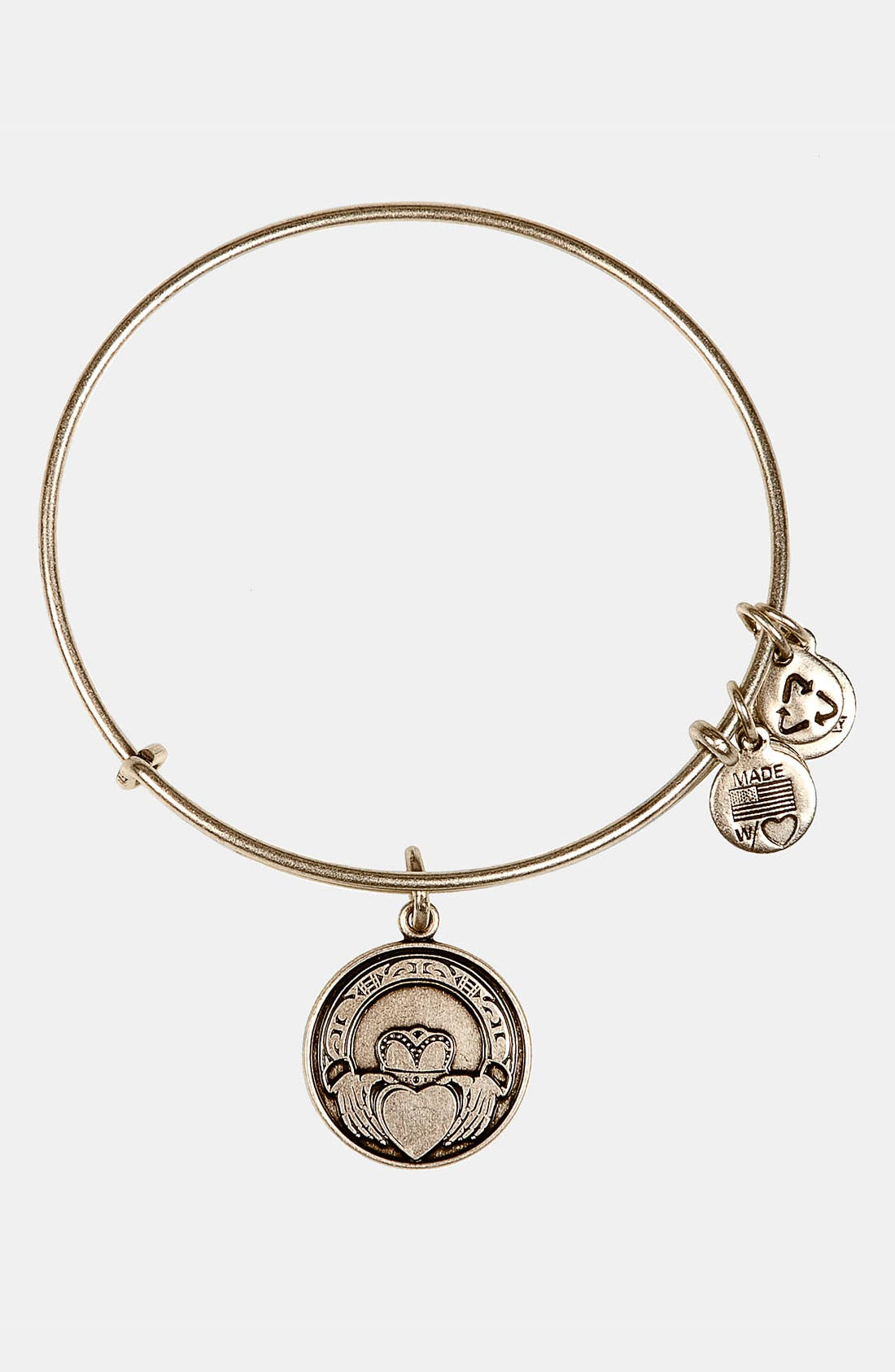 Main Image - Alex and Ani 'Claddagh' Expandable Wire Bangle