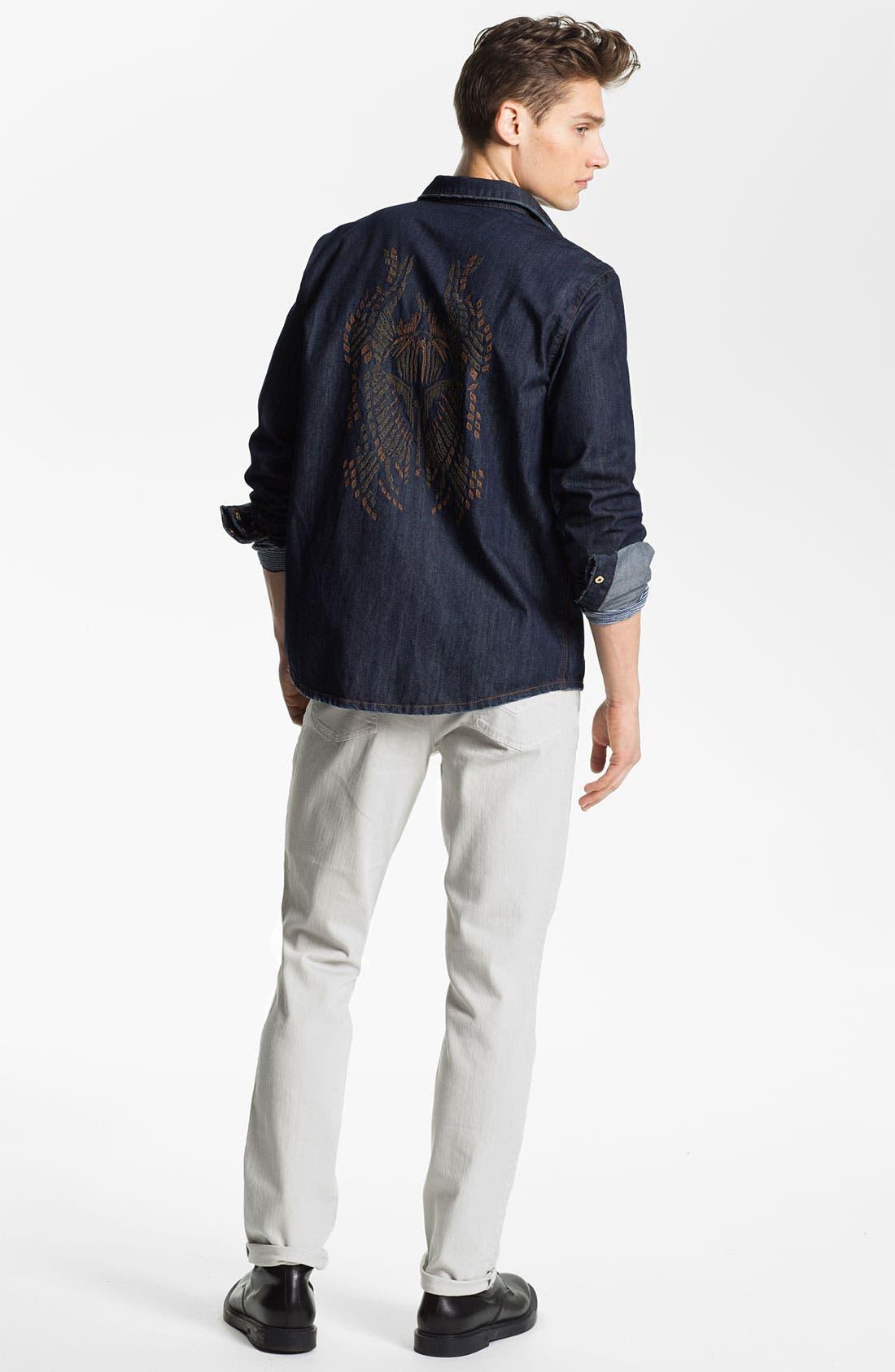 Alternate Image 5  - Zadig & Voltaire Notched Stripe Knit T-Shirt