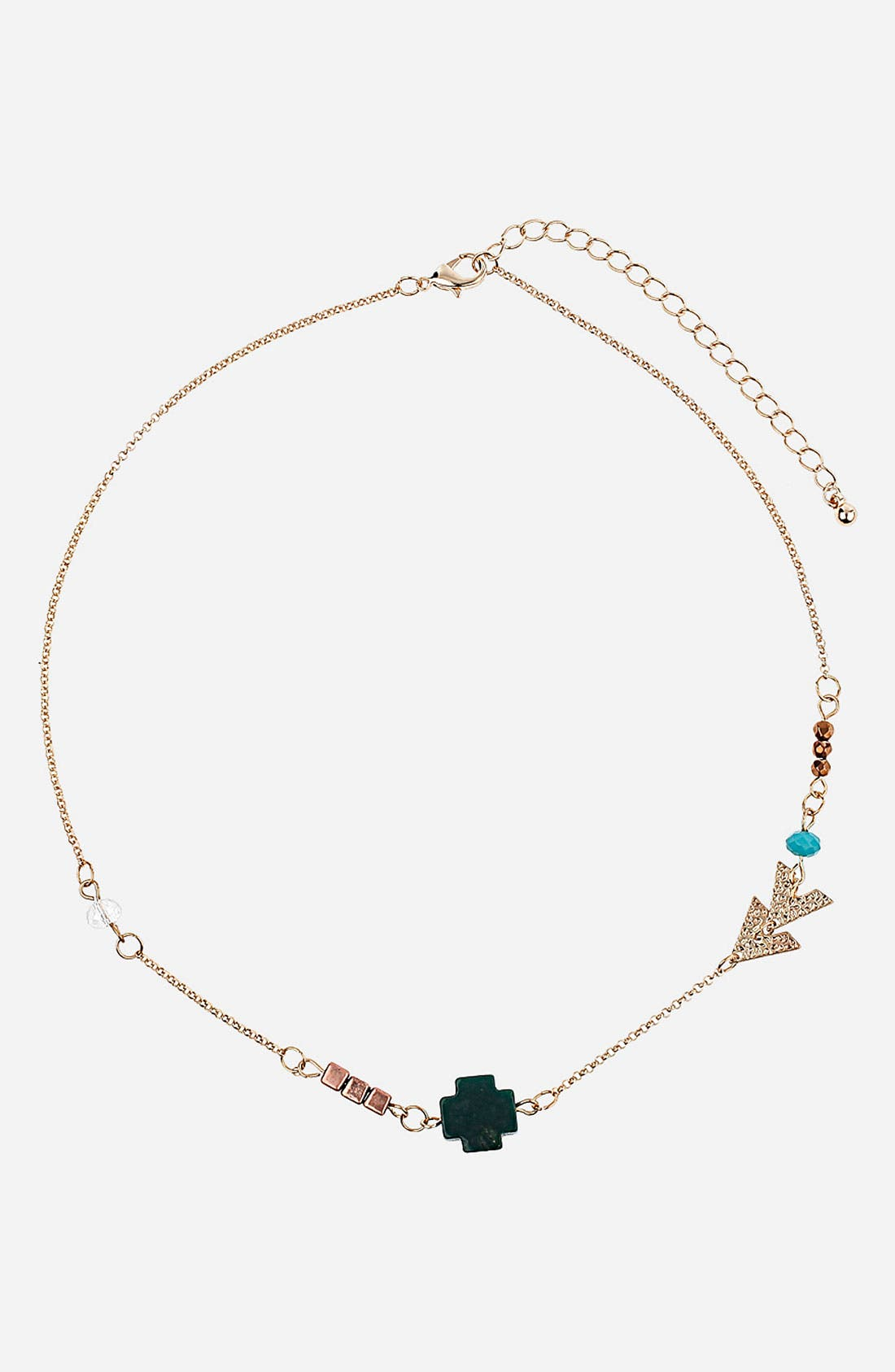 Alternate Image 1 Selected - Topshop 'Cross Arrow' Necklace