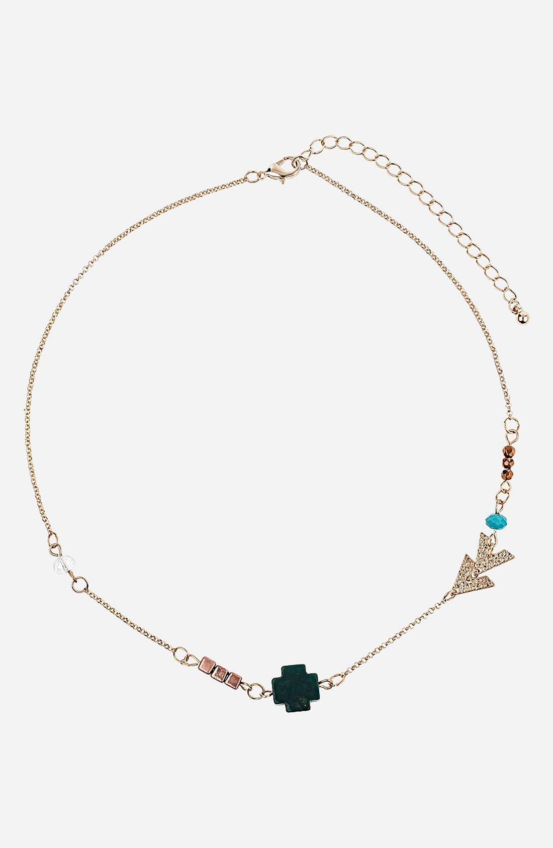 Main Image - Topshop 'Cross Arrow' Necklace
