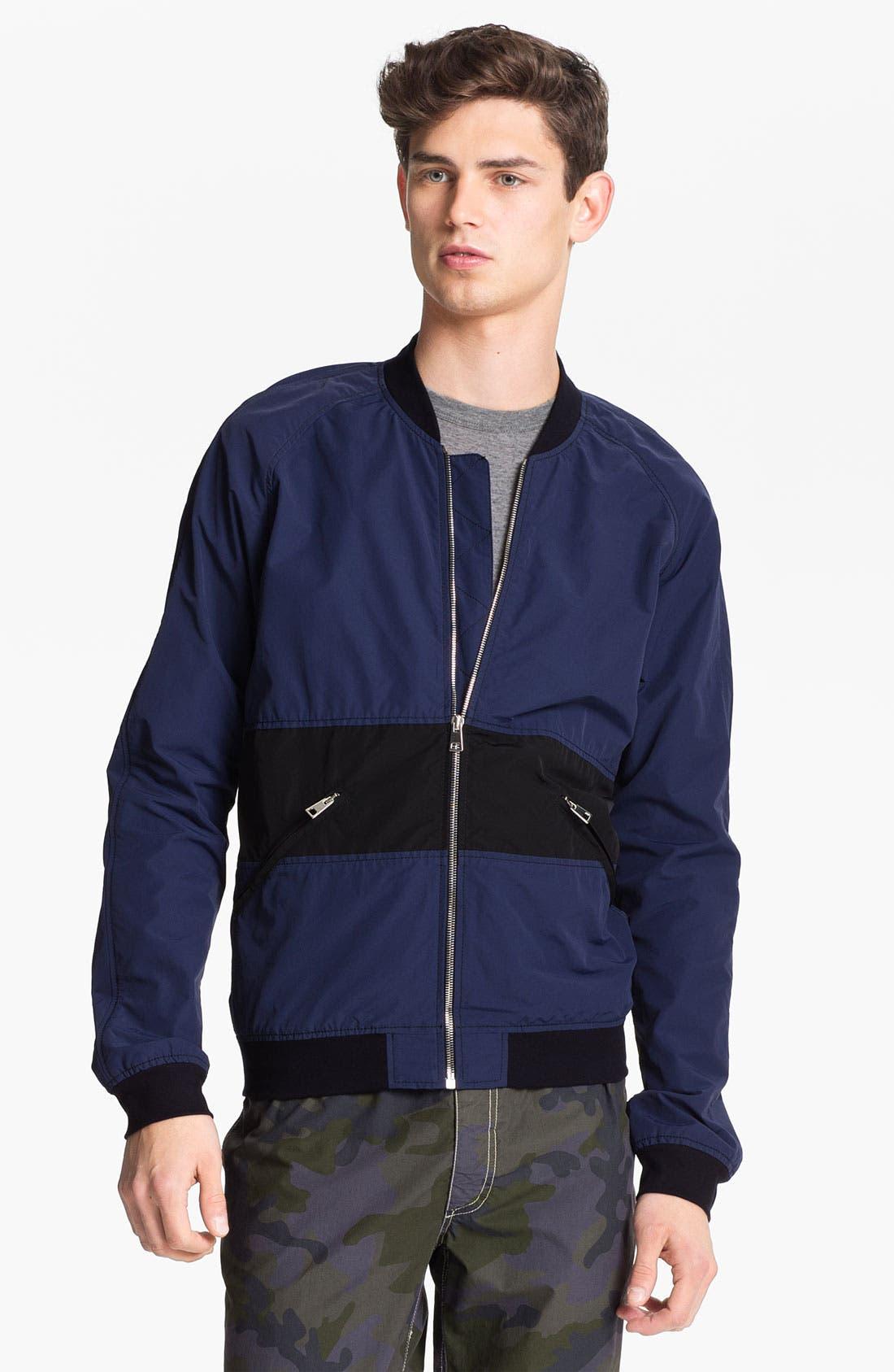 Alternate Image 1 Selected - U Clothing 'Kai' Raglan Bomber Jacket