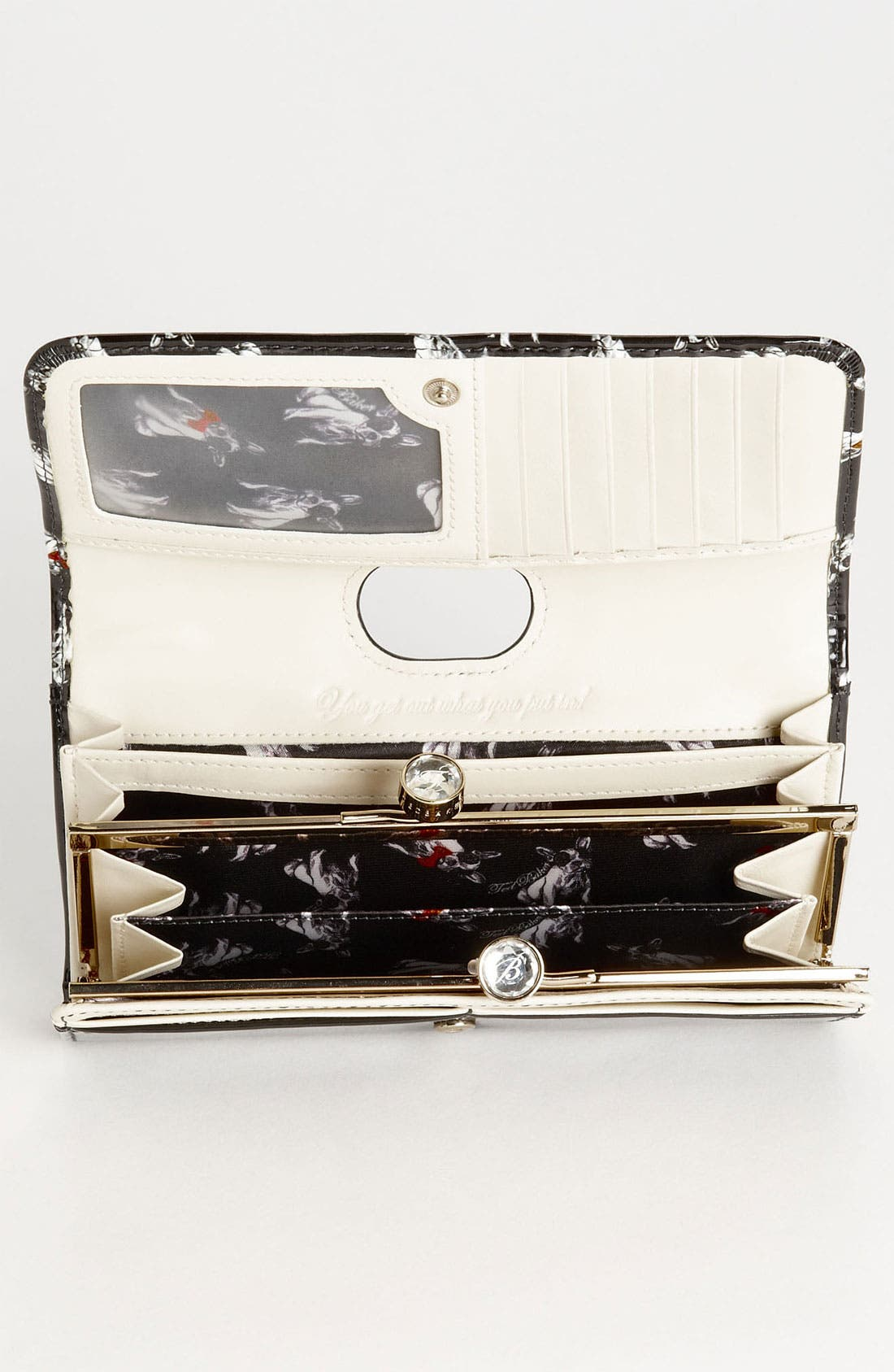 Alternate Image 3  - Ted Baker London 'Cotton Dog Bobble' Matinee Wallet