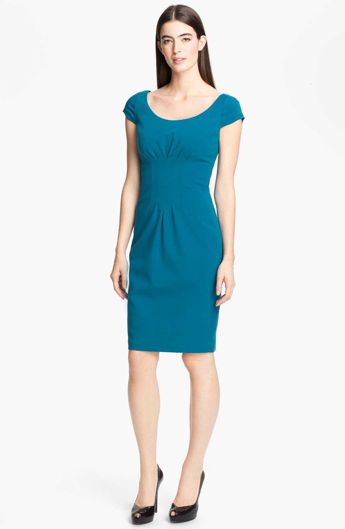 Main Image - Elie Tahari 'Gia' Cap Sleeve Dress