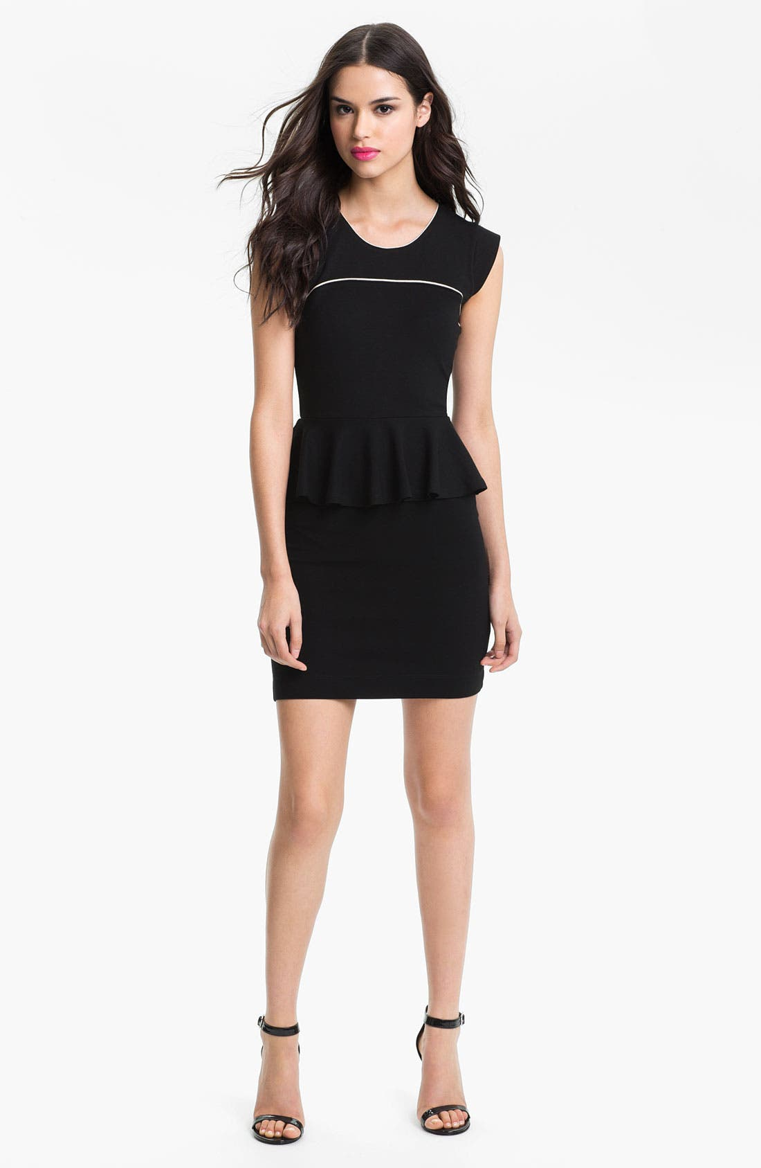 Main Image - French Connection 'Valencia' Cap Sleeve Peplum Dress
