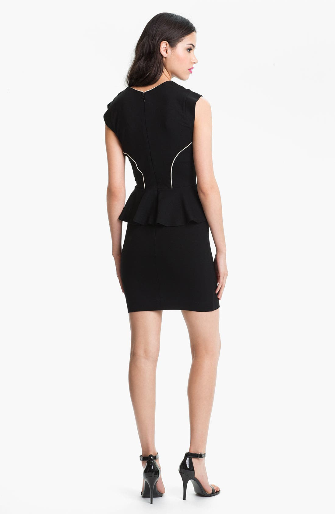 Alternate Image 2  - French Connection 'Valencia' Cap Sleeve Peplum Dress