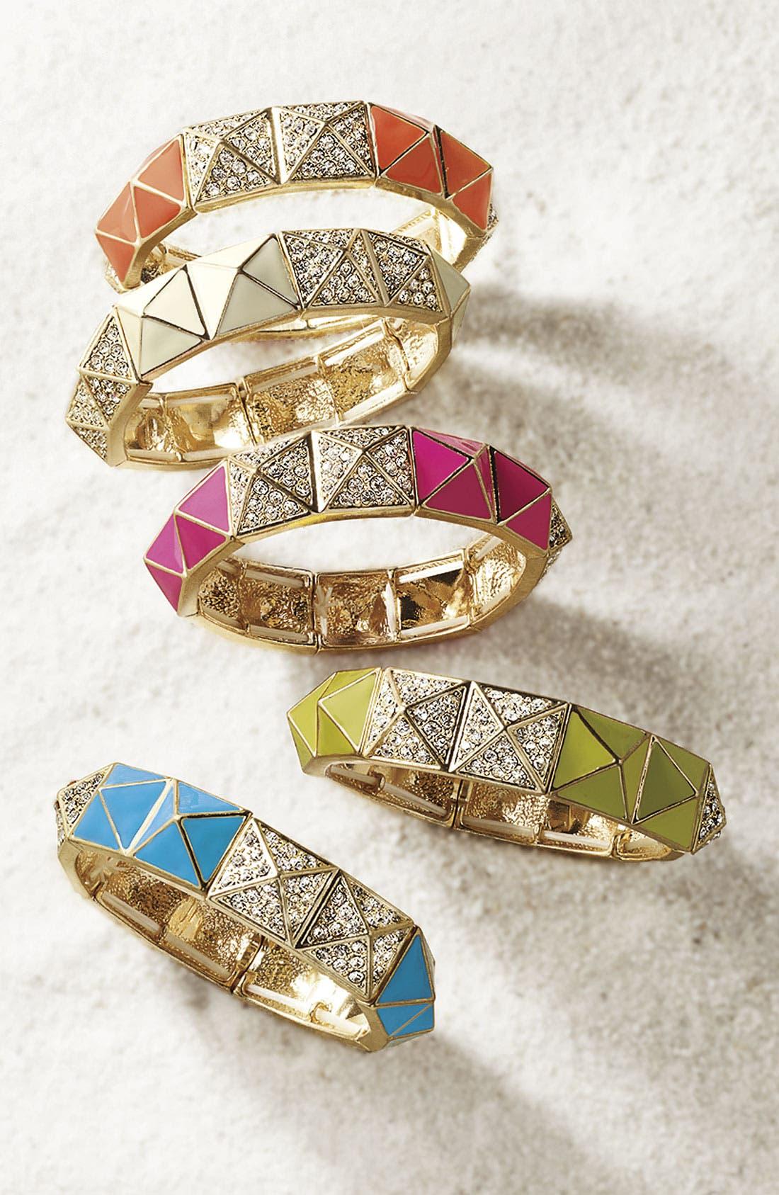 Alternate Image 2  - Cara Pyramid Stretch Bracelet