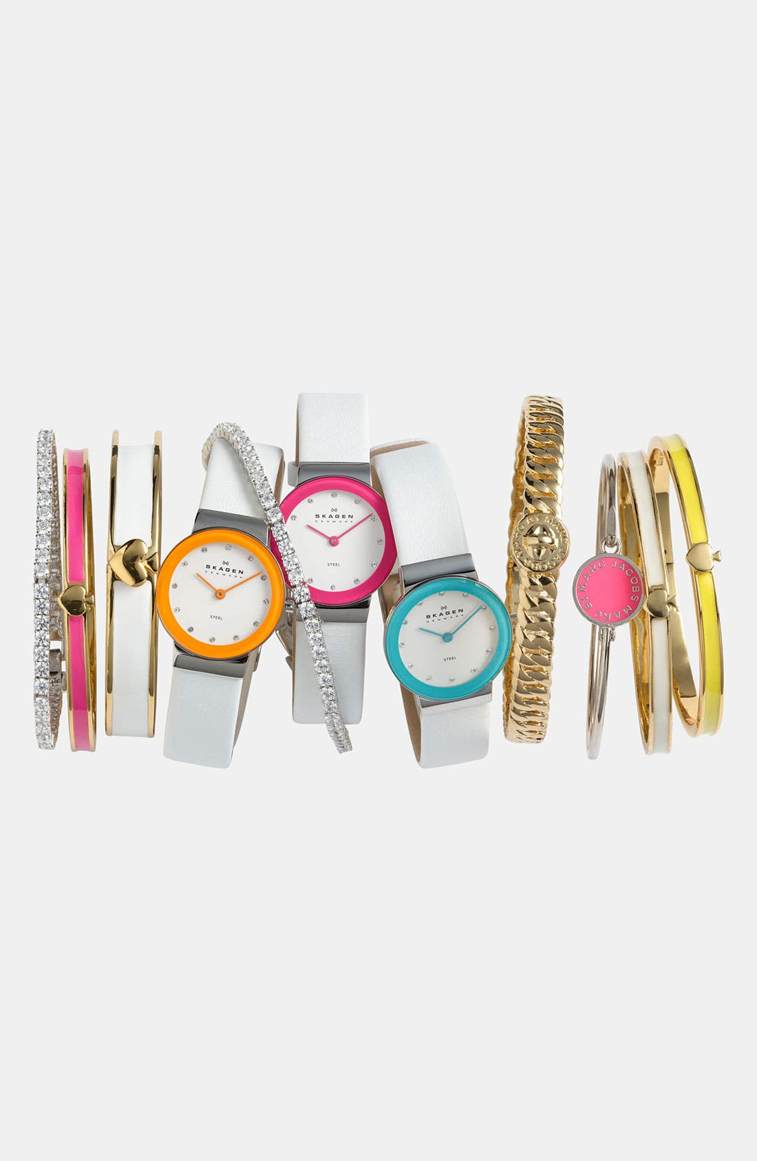 Alternate Image 1 Selected - Skagen Watch & MARC BY MARC JACOBS Bangles