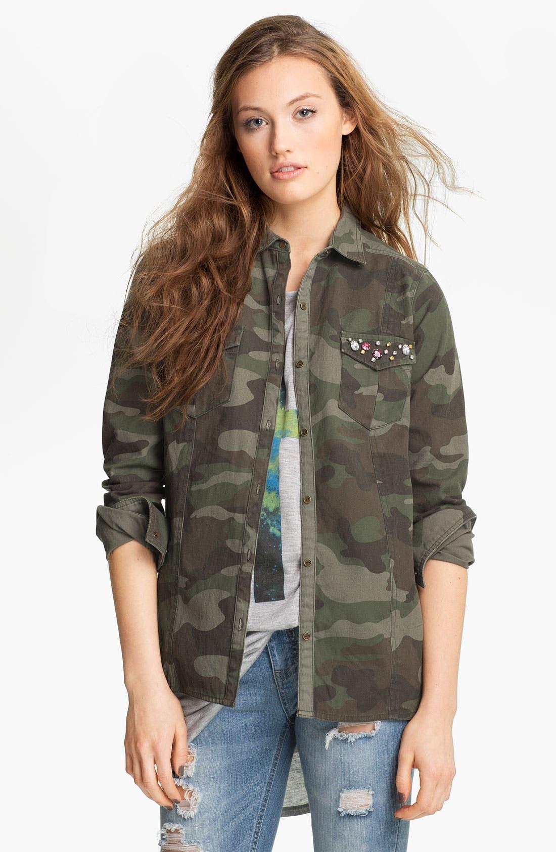 Main Image - Elodie Embellished Army Jacket (Juniors)
