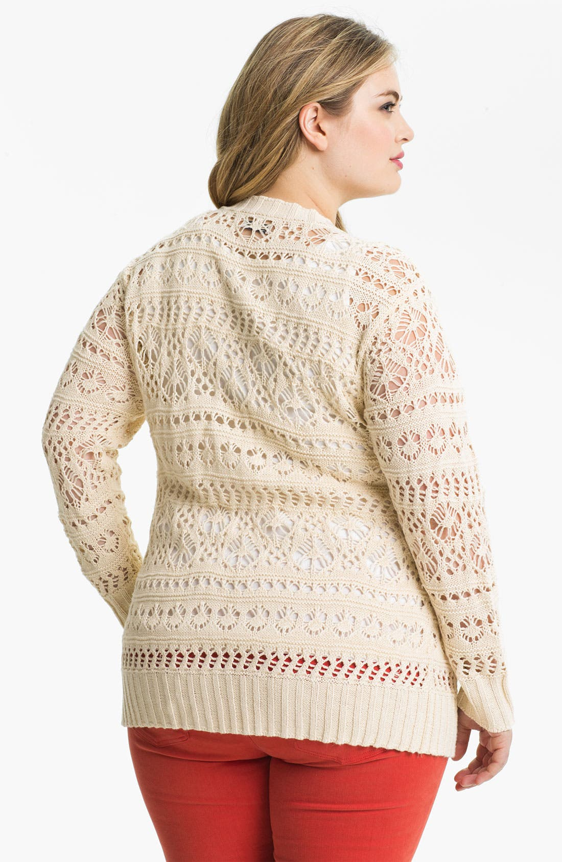 Alternate Image 2  - Lucky Brand 'Rosa' Open Cardigan (Plus)
