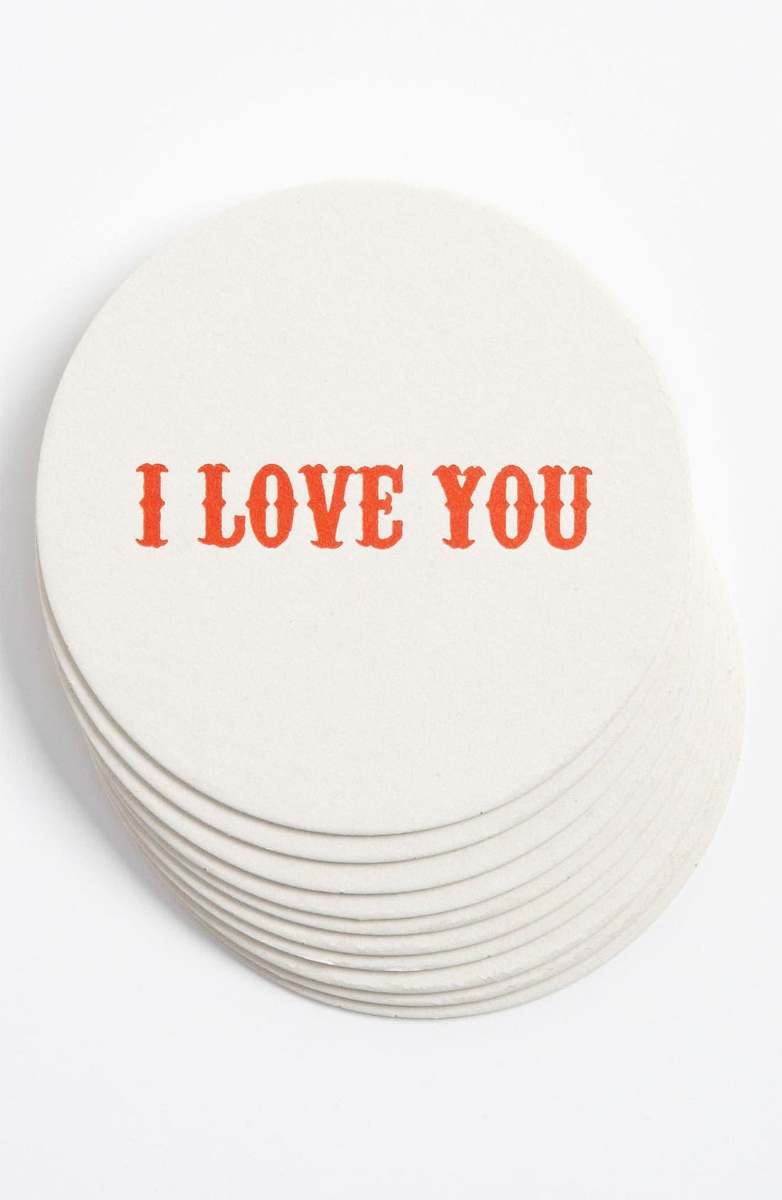 Alternate Image 1 Selected - 'I Love You' Letterpress Coasters (Set of 10)