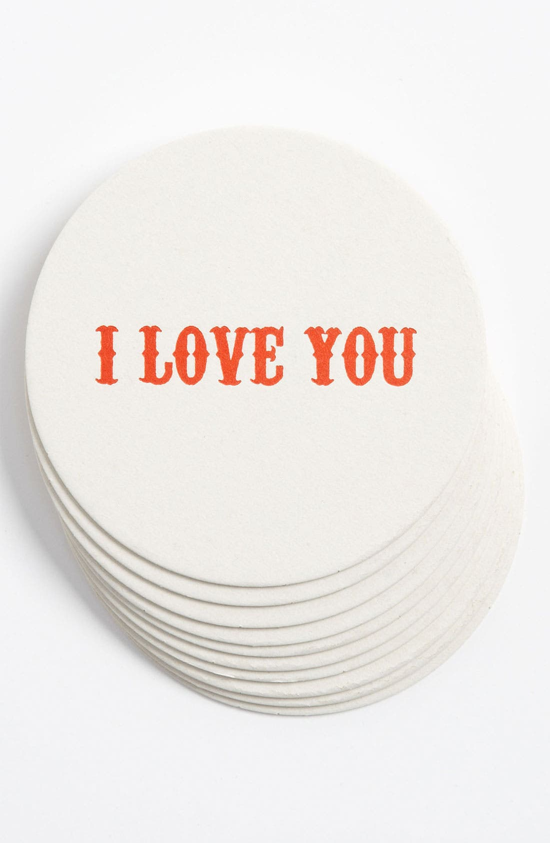 Main Image - 'I Love You' Letterpress Coasters (Set of 10)