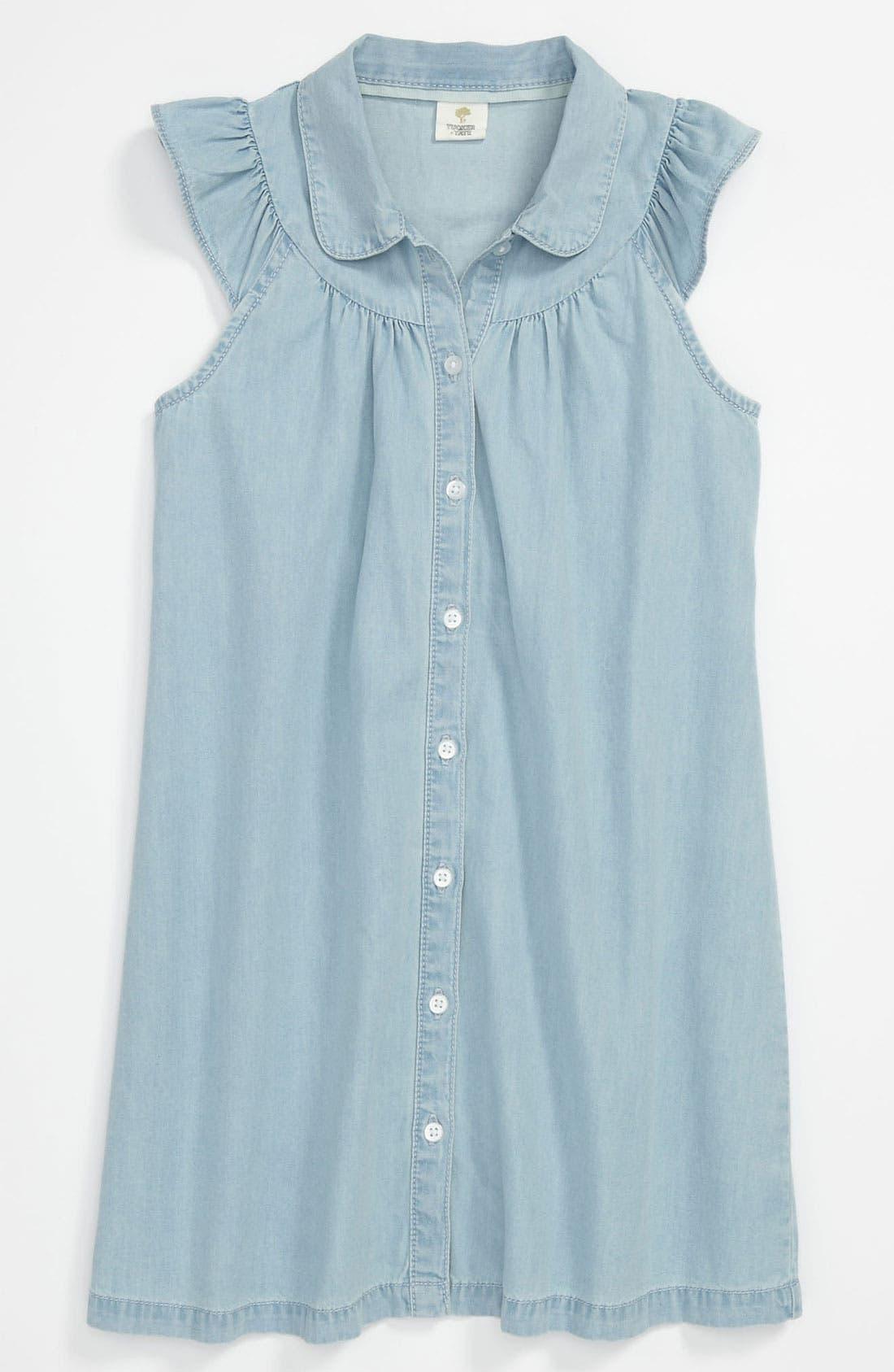 Main Image - Tucker + Tate 'Kate' Woven Dress (Little Girls & Big Girls)